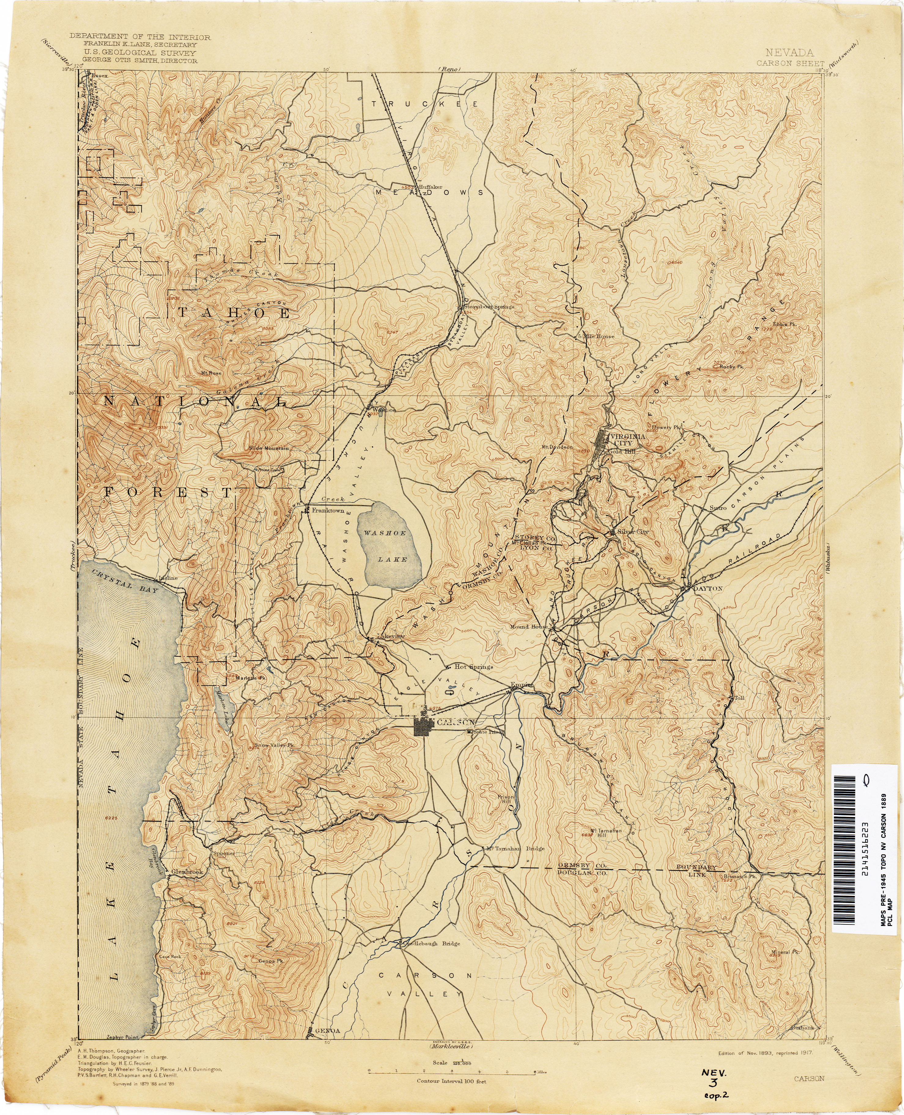 Nevada Historical Topographic Maps - Perry-Castañeda Map Collection ...
