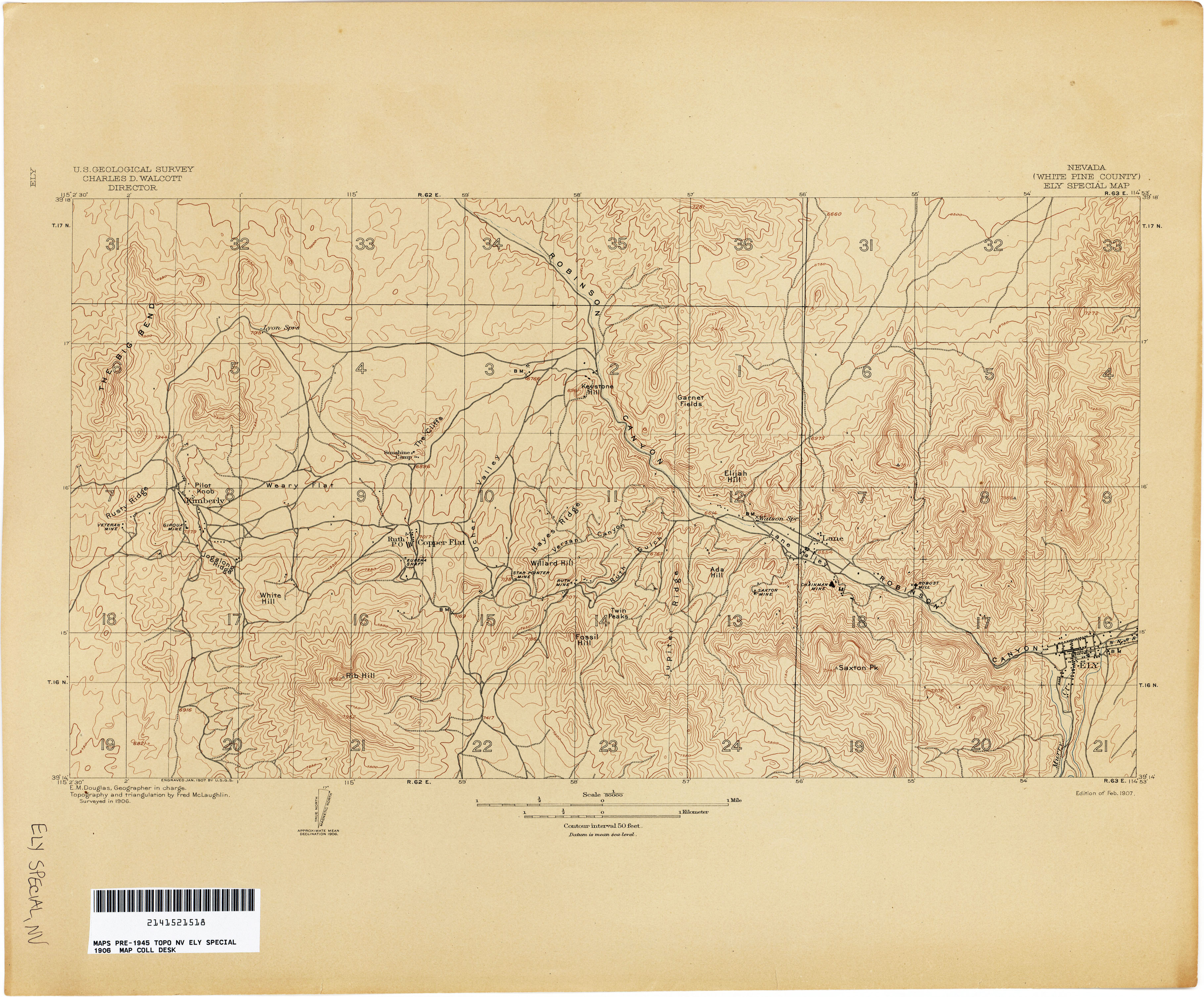 Nevada Historical Topographic Maps PerryCastañeda Map - Nv map