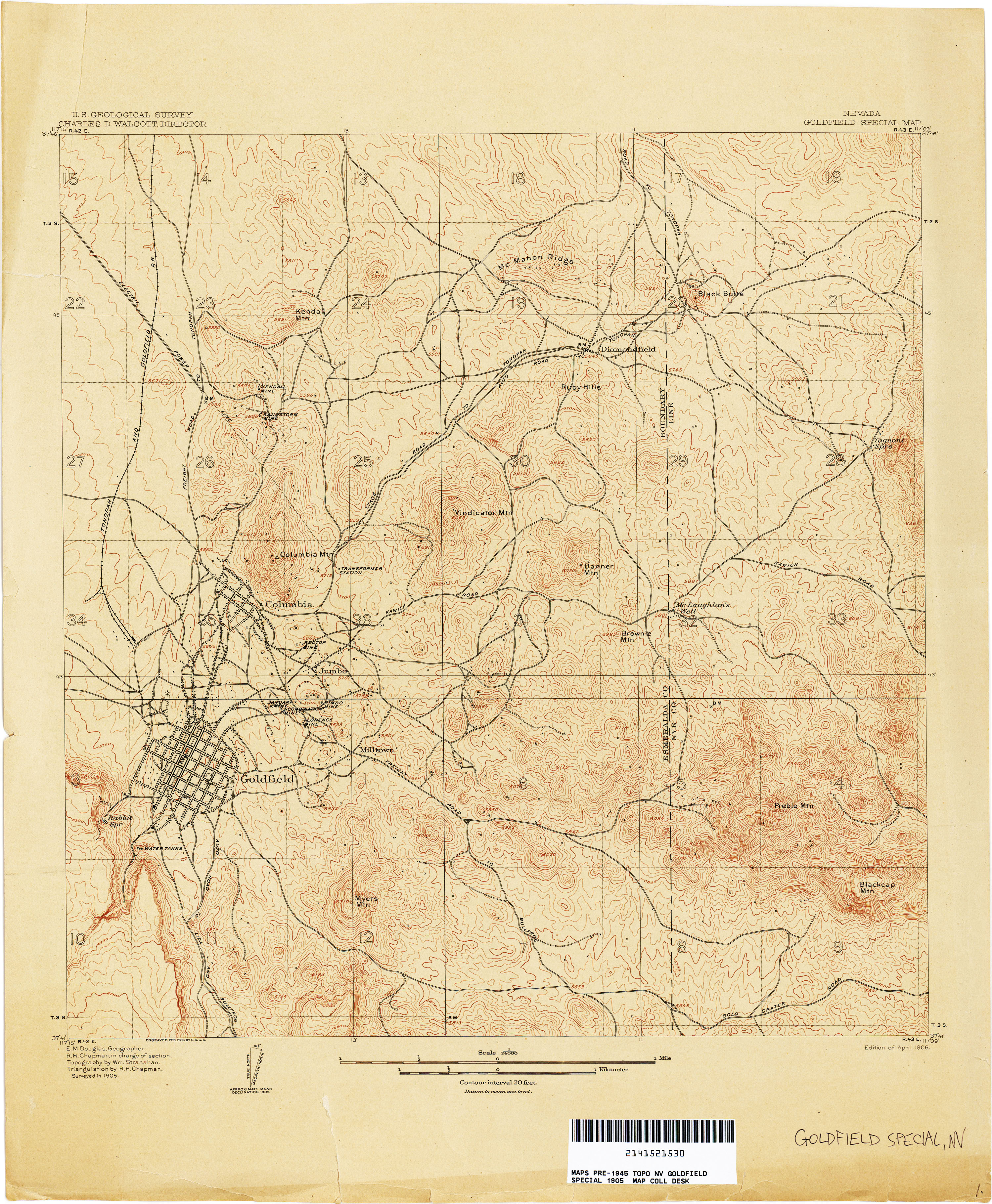 Nevada Historical Topographic Maps PerryCastañeda Map - Map of nv