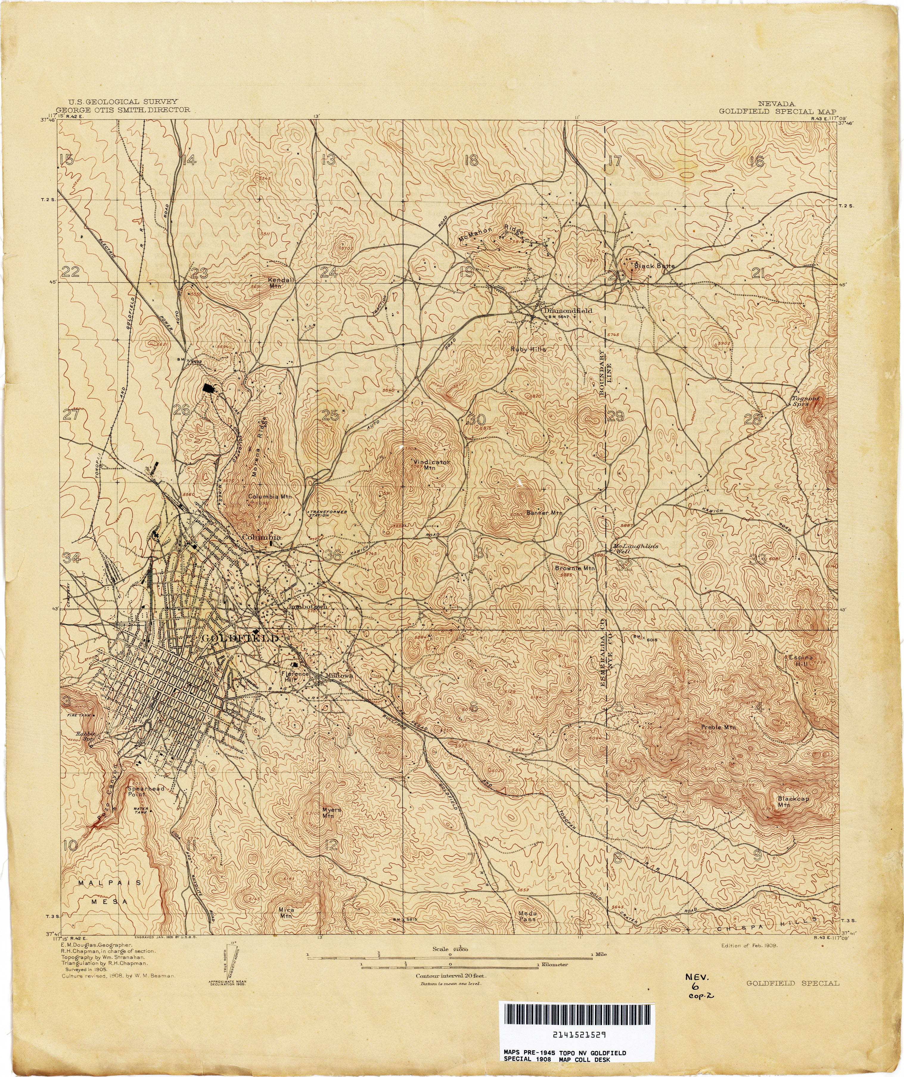 Topographic Map Of Nevada.Nevada Historical Topographic Maps Perry Castaneda Map Collection