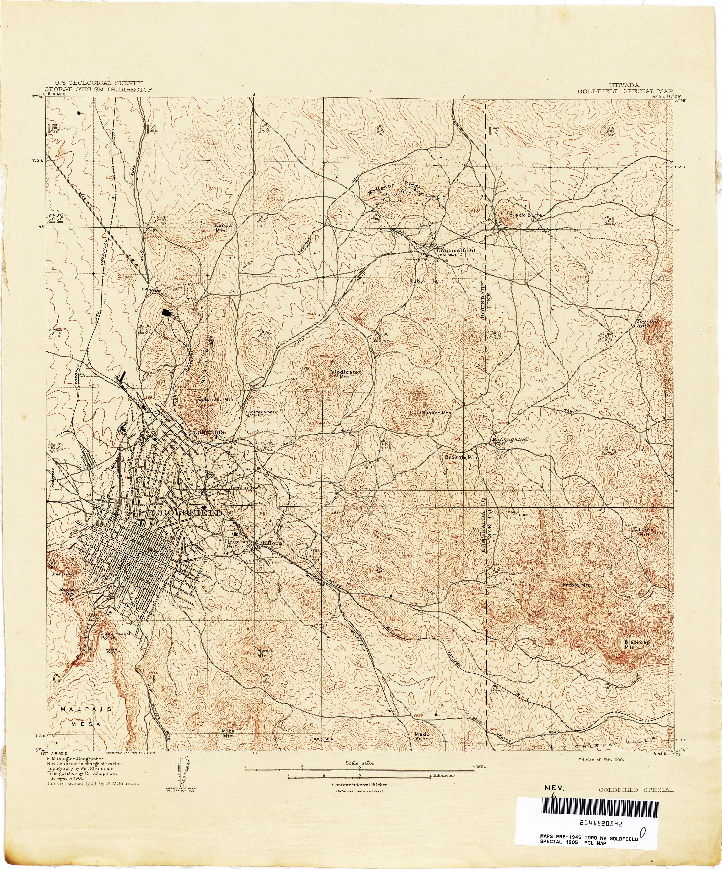 Nevada Historical Topographic Maps PerryCastañeda Map - Maps of nevada