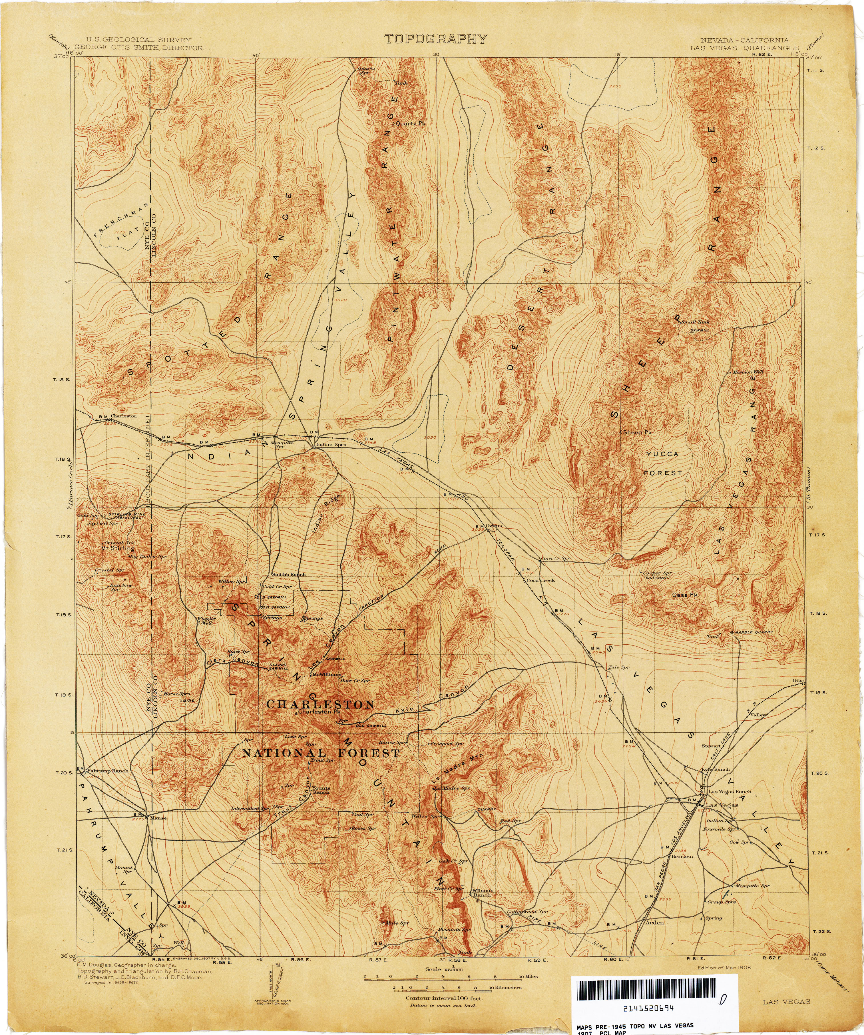 Nevada Historical Topographic Maps PerryCastañeda Map - Nevada map with cities