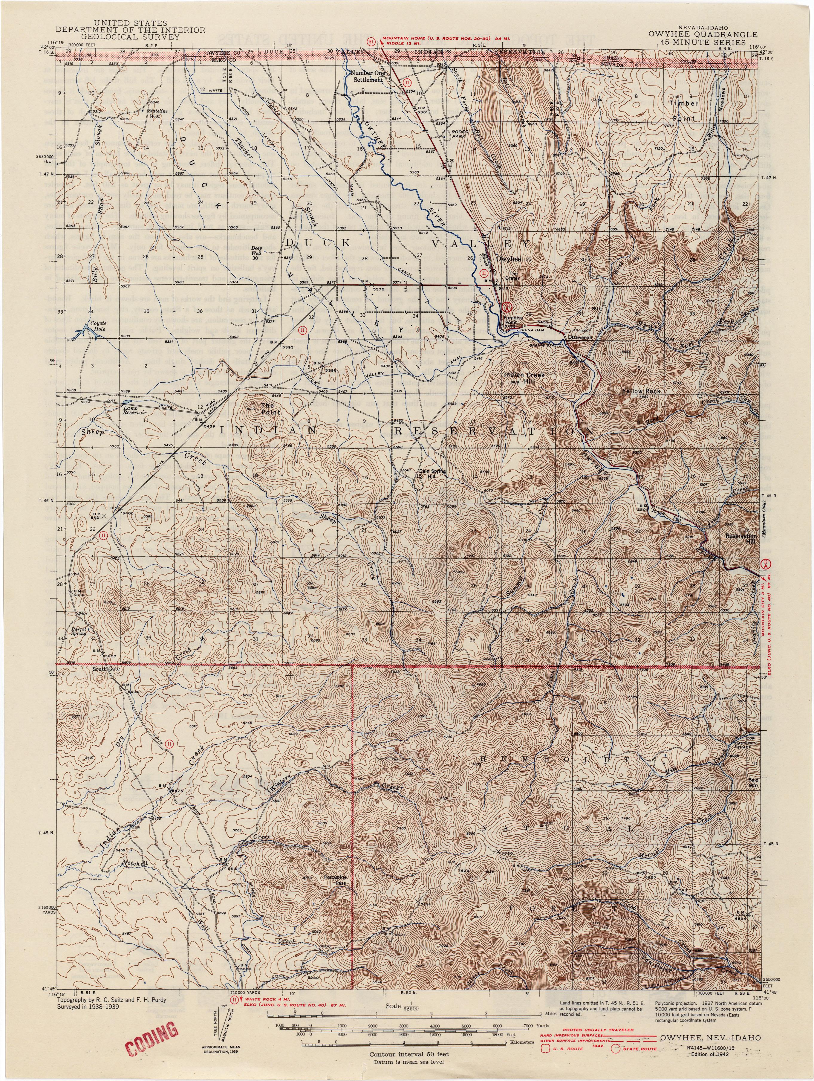 Nevada Historical Topographic Maps PerryCastañeda Map - Us quad maps