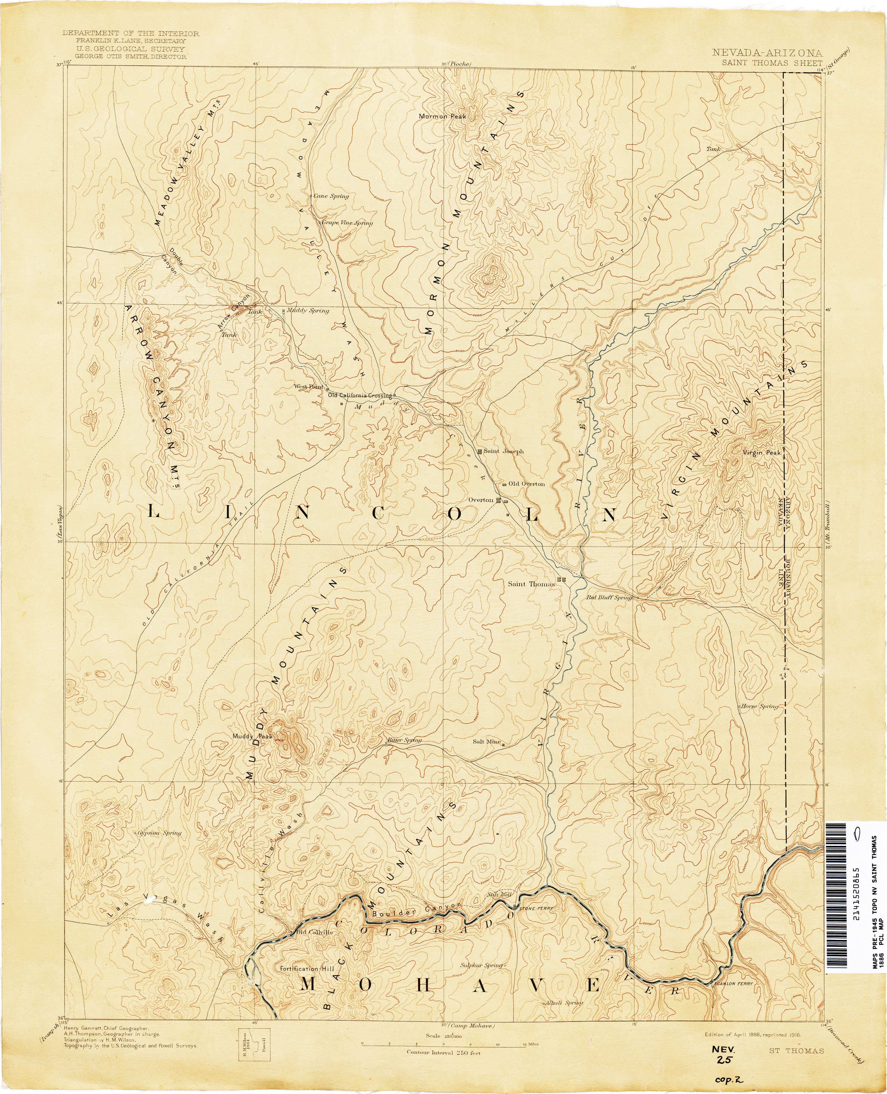 Nevada Historical Topographic Maps PerryCastaeda Map