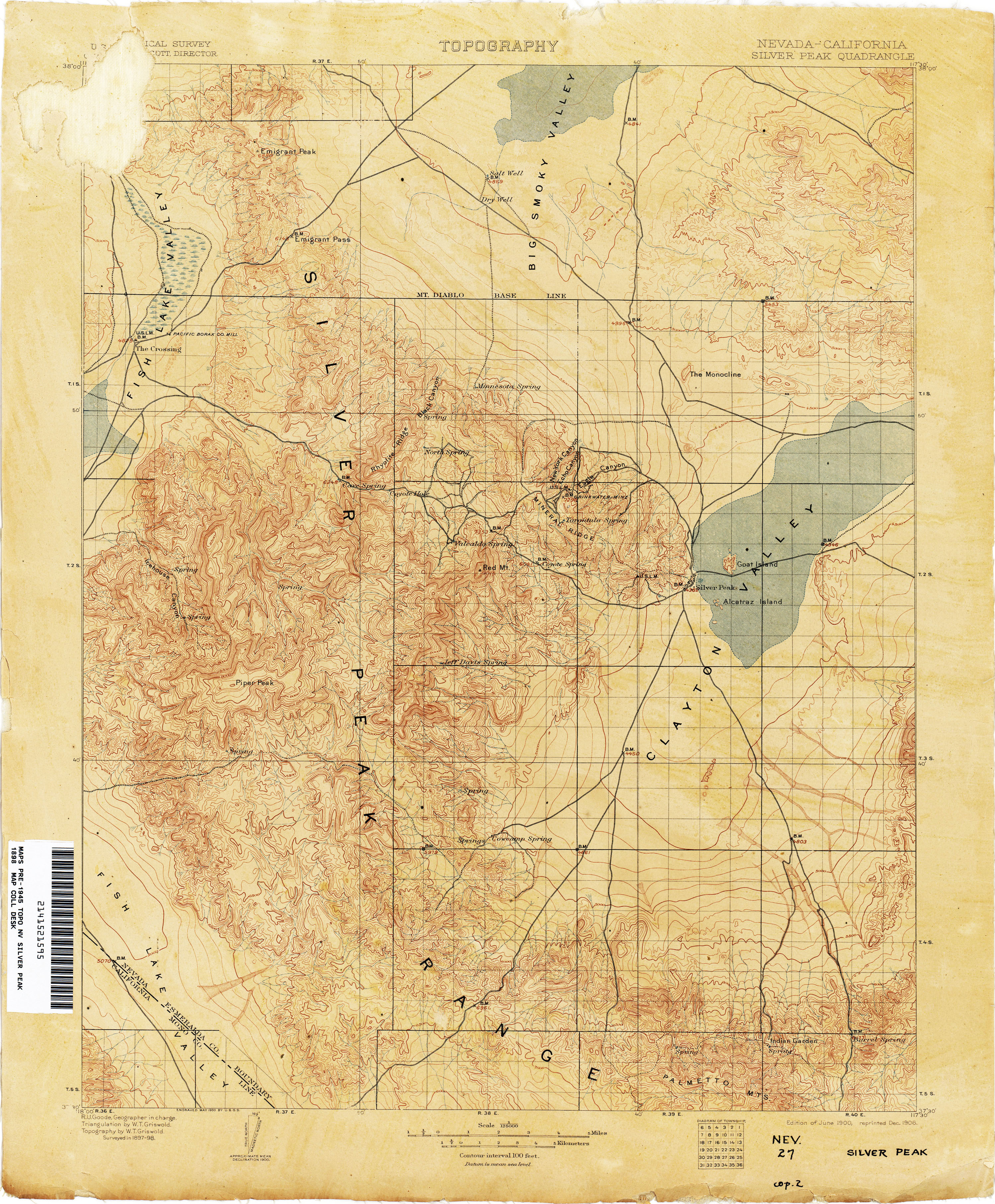 Nevada Historical Topographic Maps - Perry-Castañeda Map