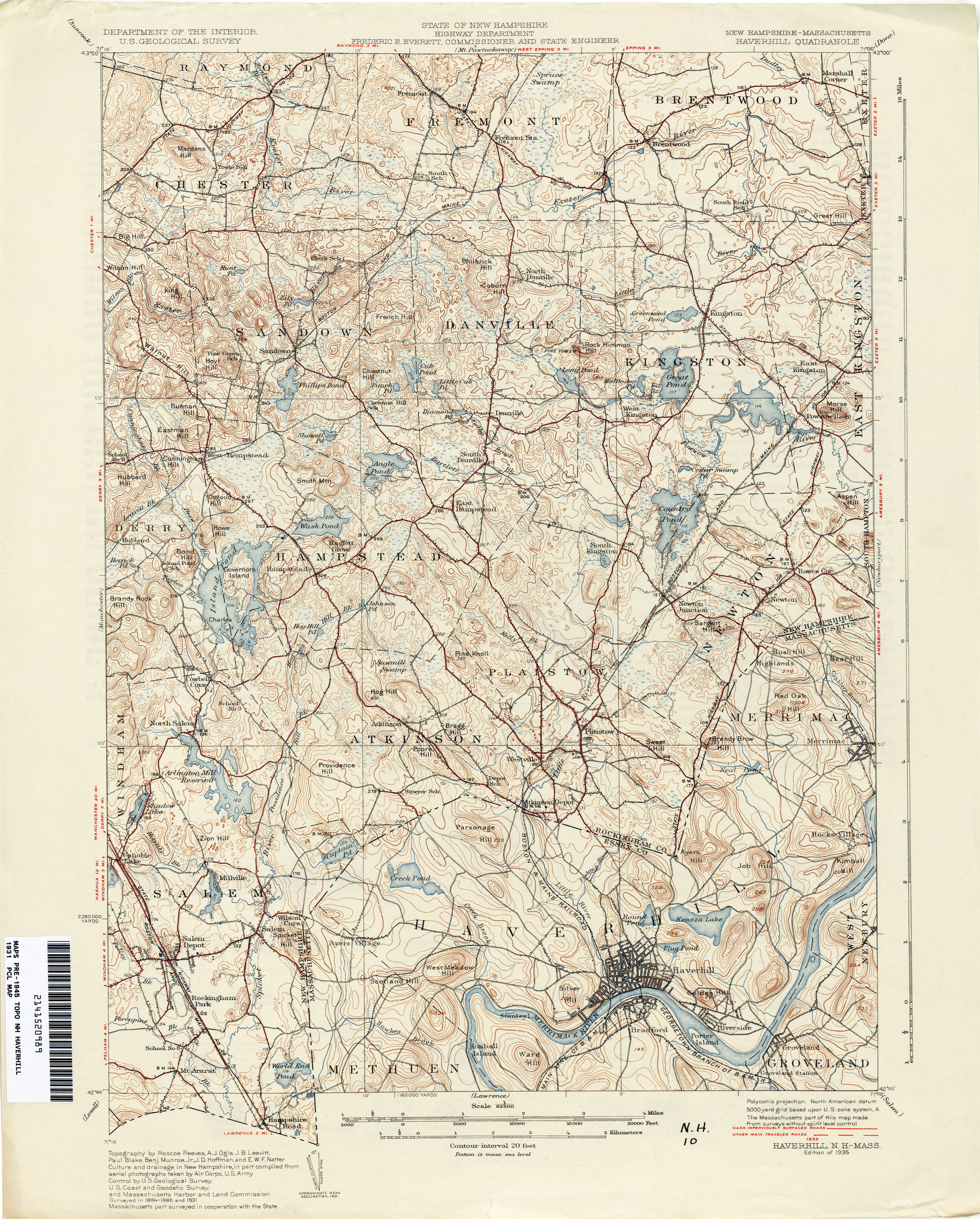 Topographic Map Massachusetts.New Hampshire Topographic Maps Perry Castaneda Map Collection Ut