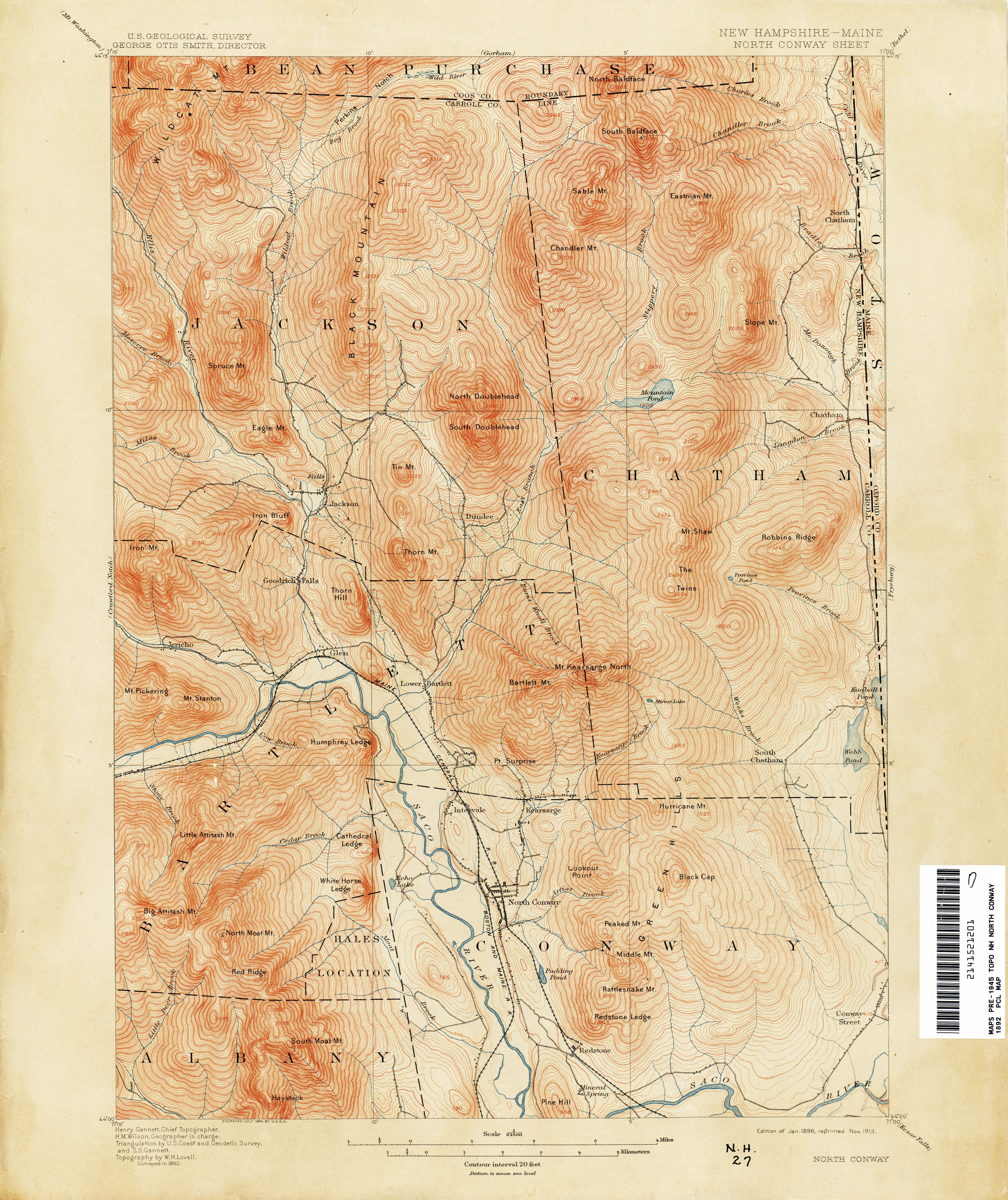 New Hampshire Topographic Maps PerryCastañeda Map Collection - North convey in us map