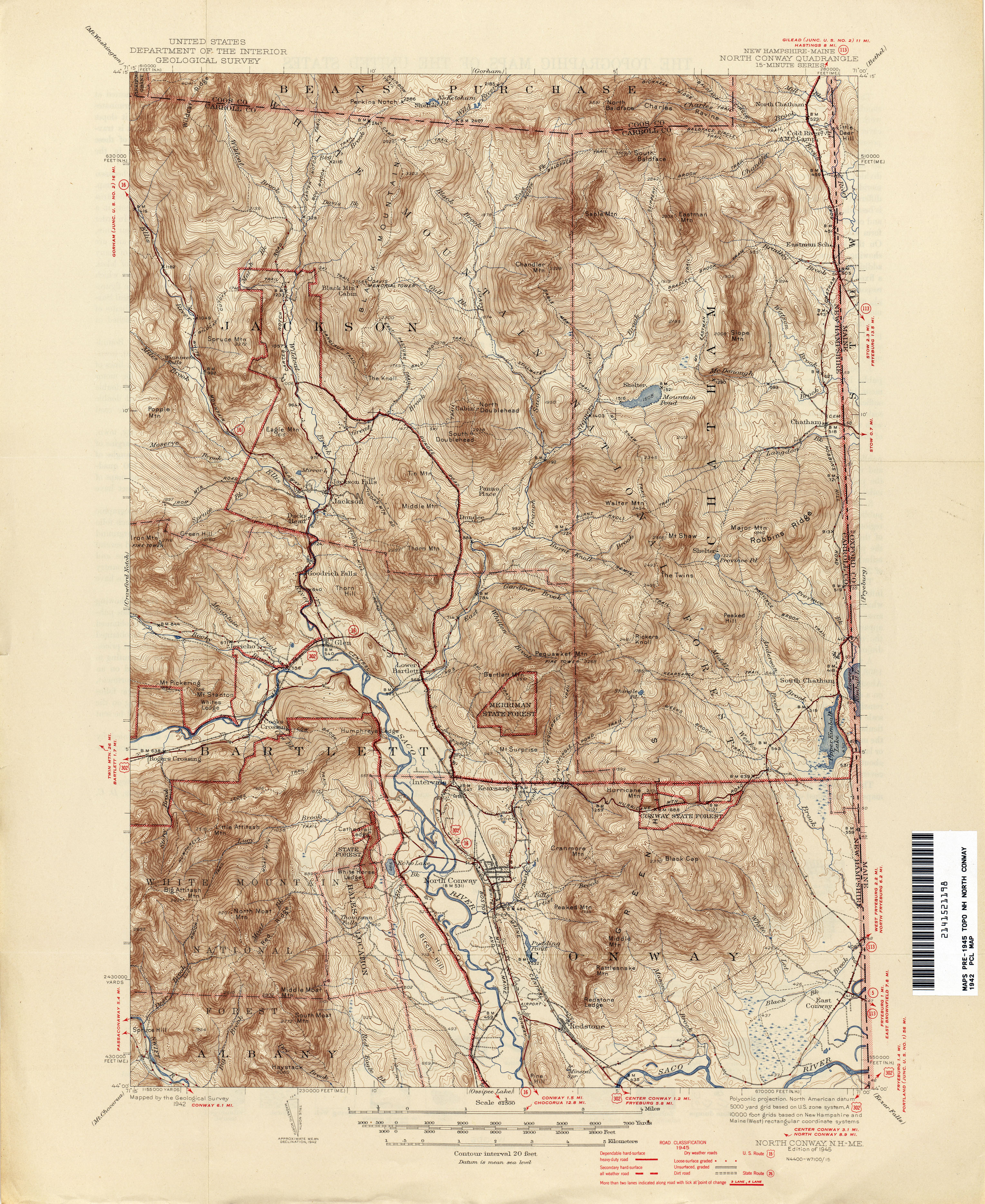 New Hampshire Topographic Maps PerryCastañeda Map Collection - New hampsire on us map
