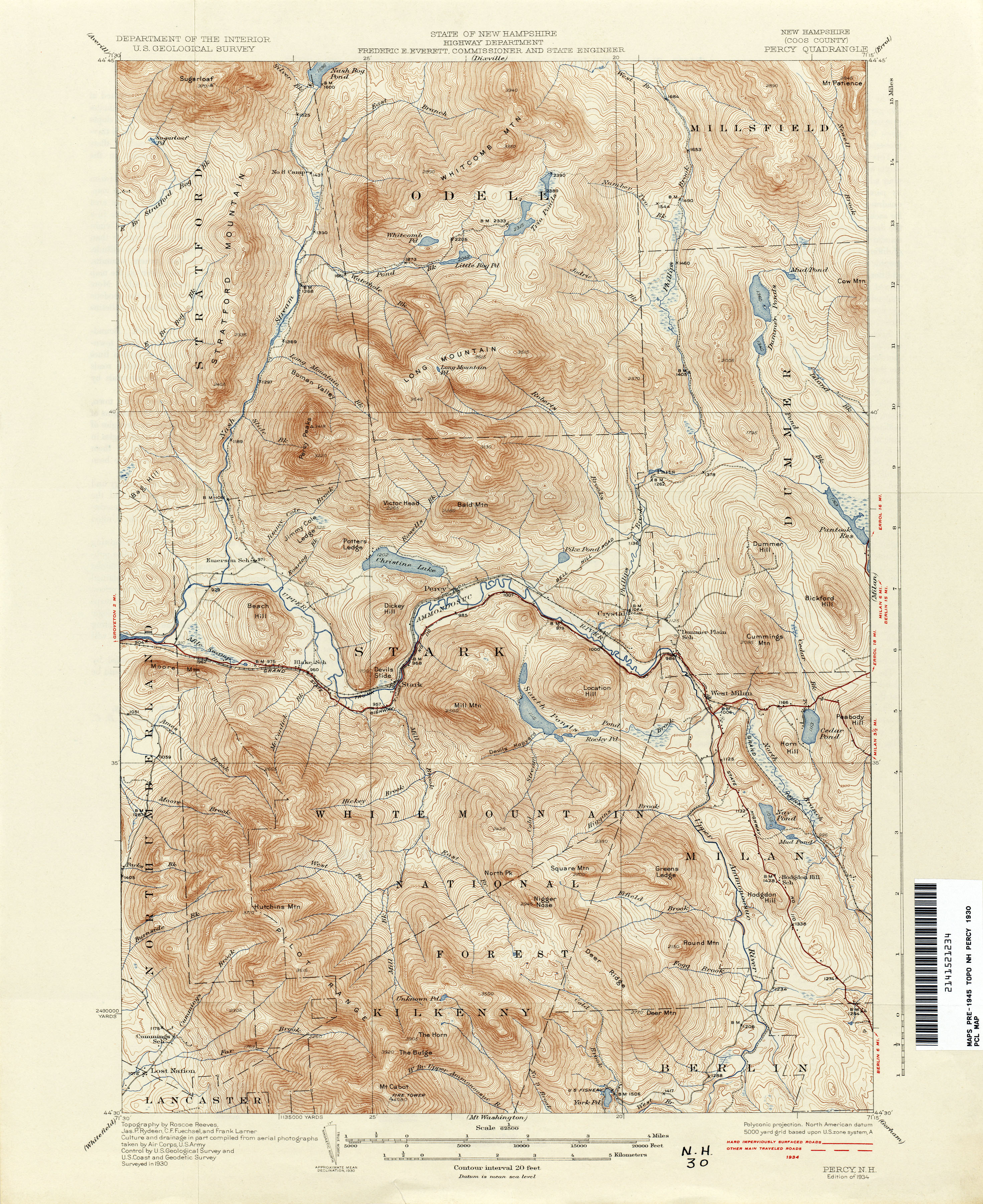 New Hampshire Topographic Maps - Perry-Castañeda Map Collection - UT ...