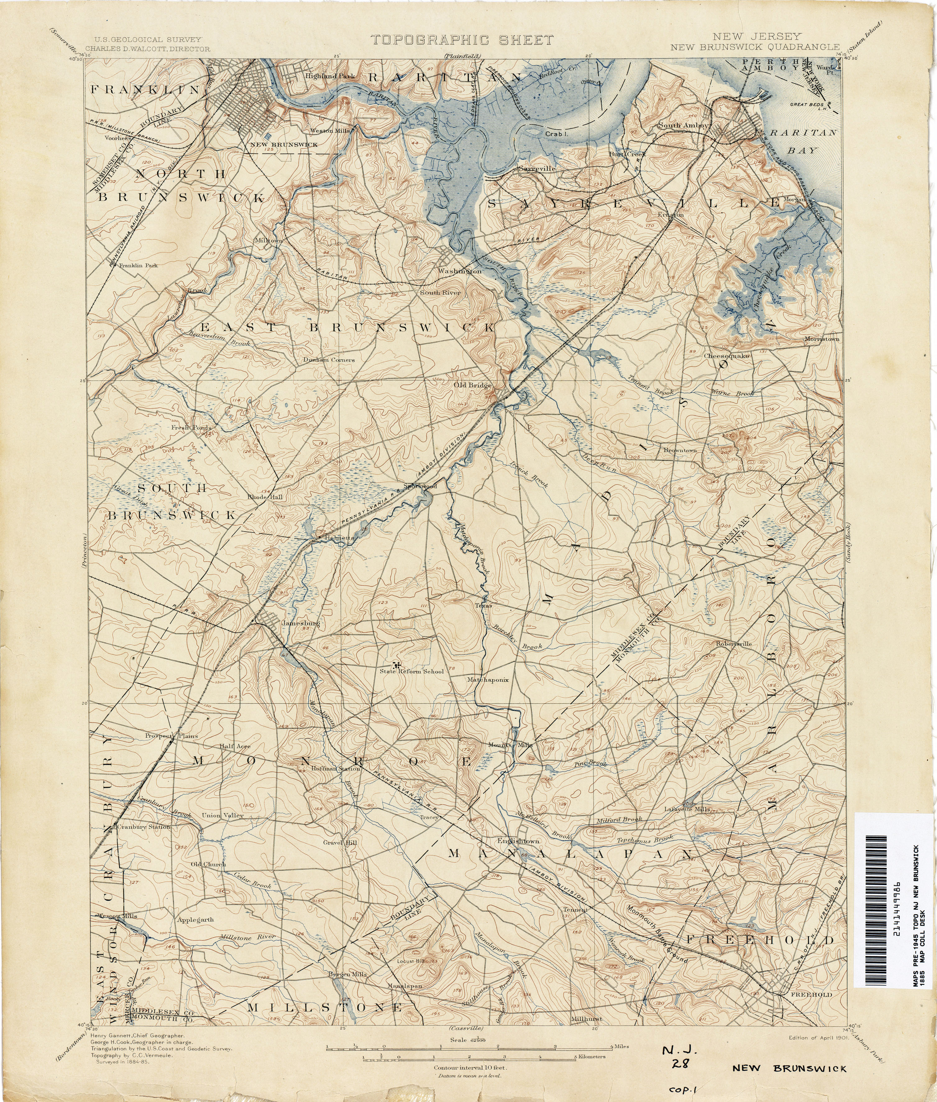topographic map new jersey New Jersey Topographic Maps Perry Castaneda Map Collection Ut