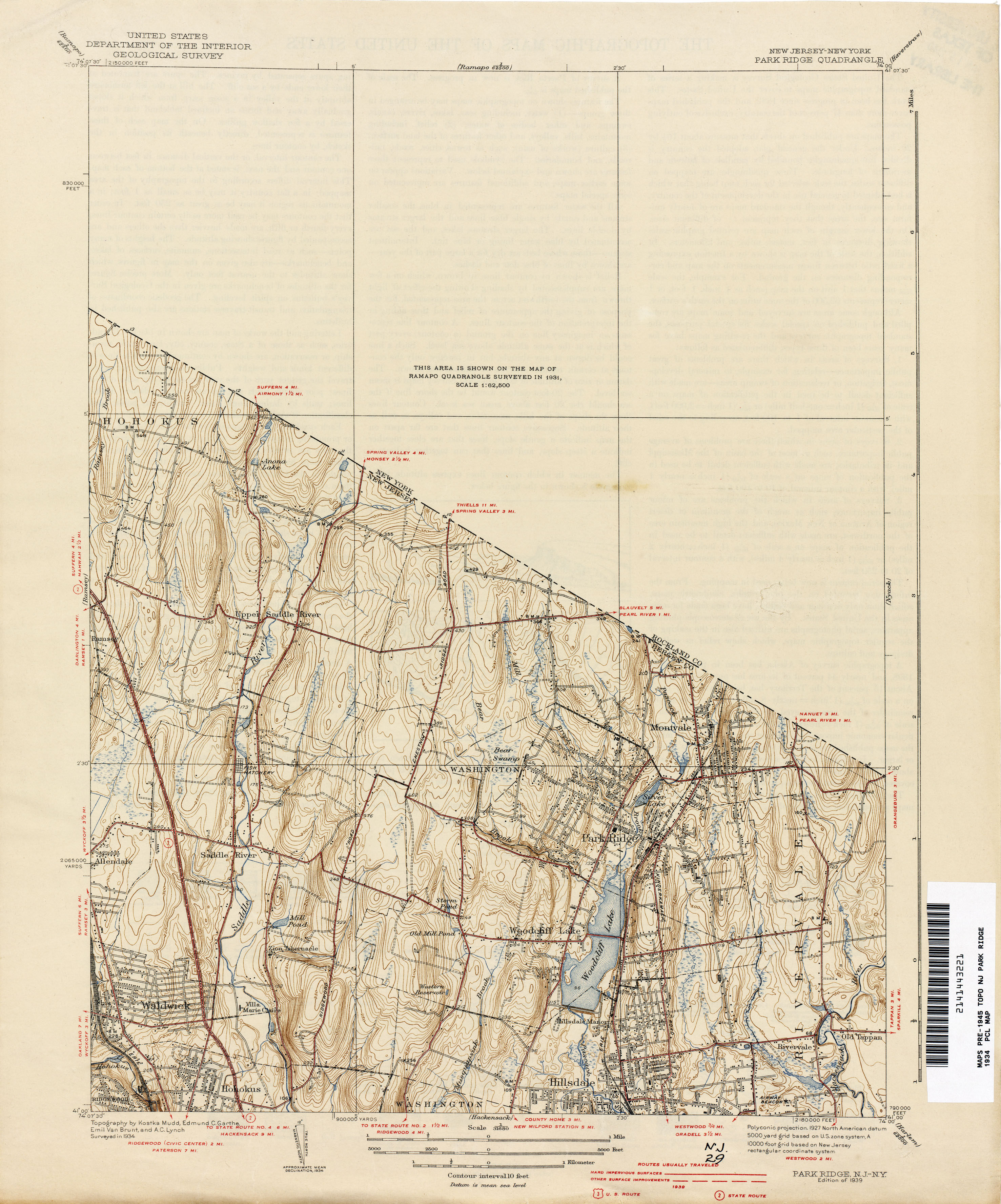 New Jersey Topographic Maps PerryCastañeda Map Collection UT - New jersey on the us map