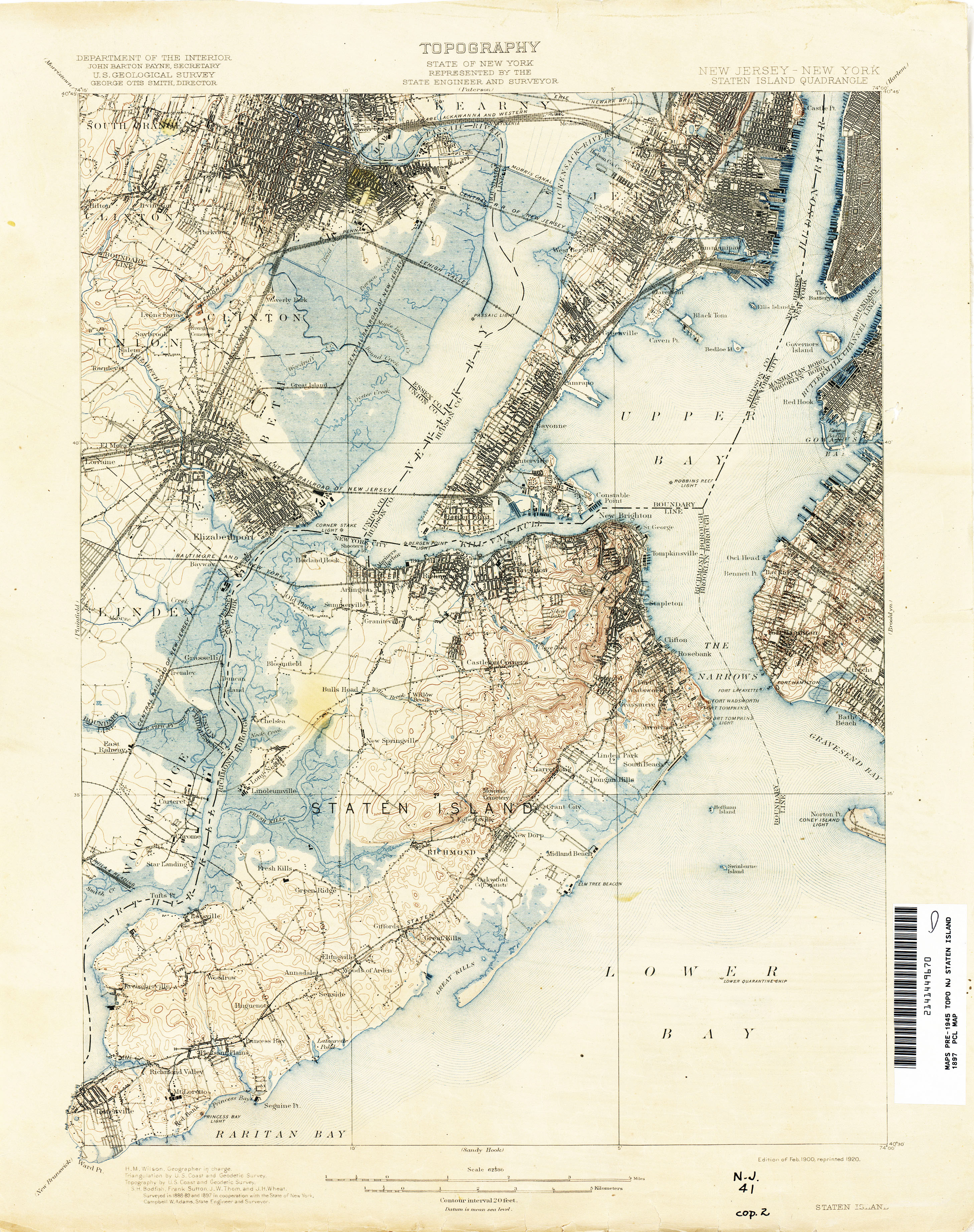 New Jersey Topographic Maps   Perry Castañeda Map Collection   UT