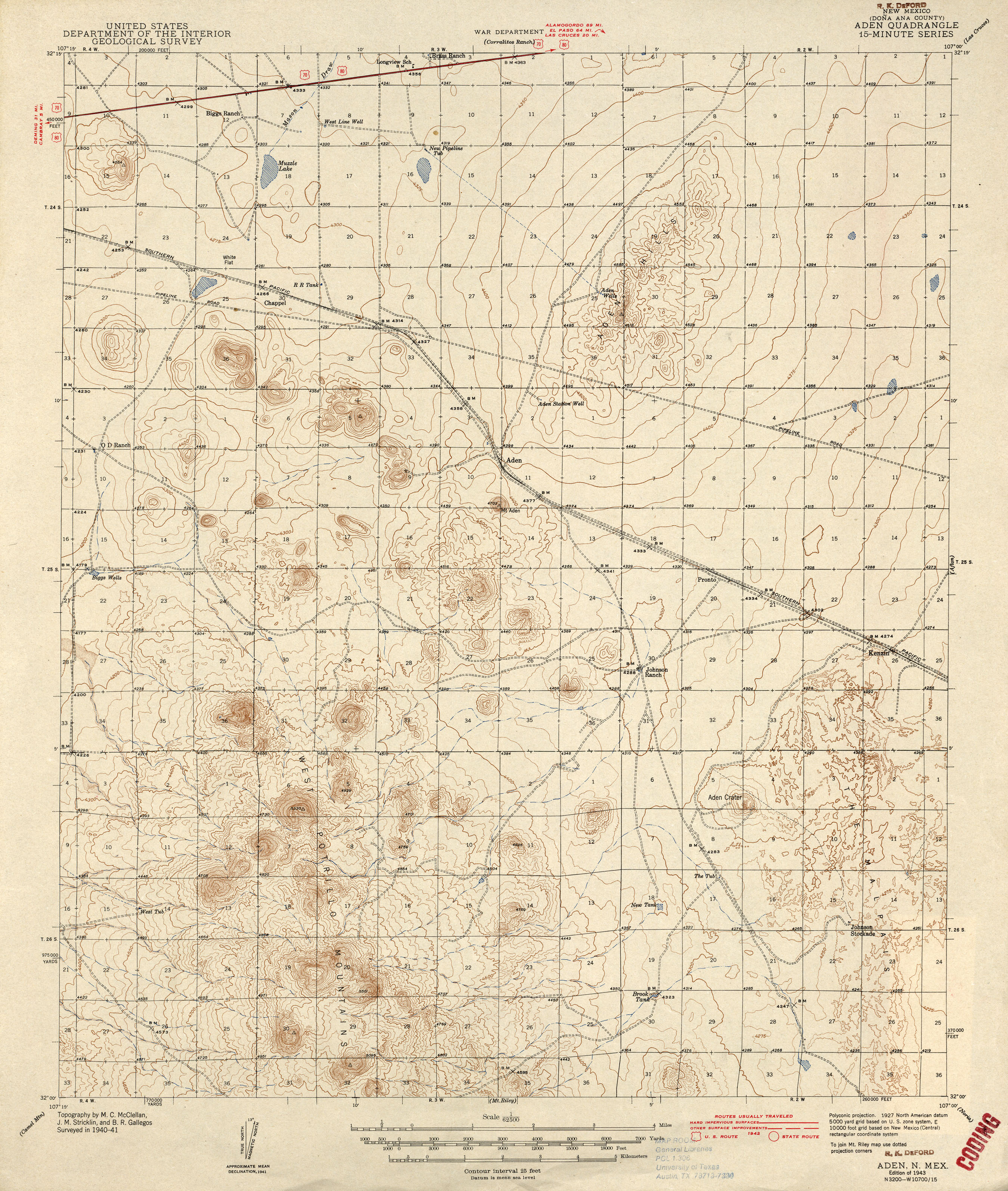 New Mexico Historical Topographic Maps PerryCastañeda Map - Detailed map of new mexico