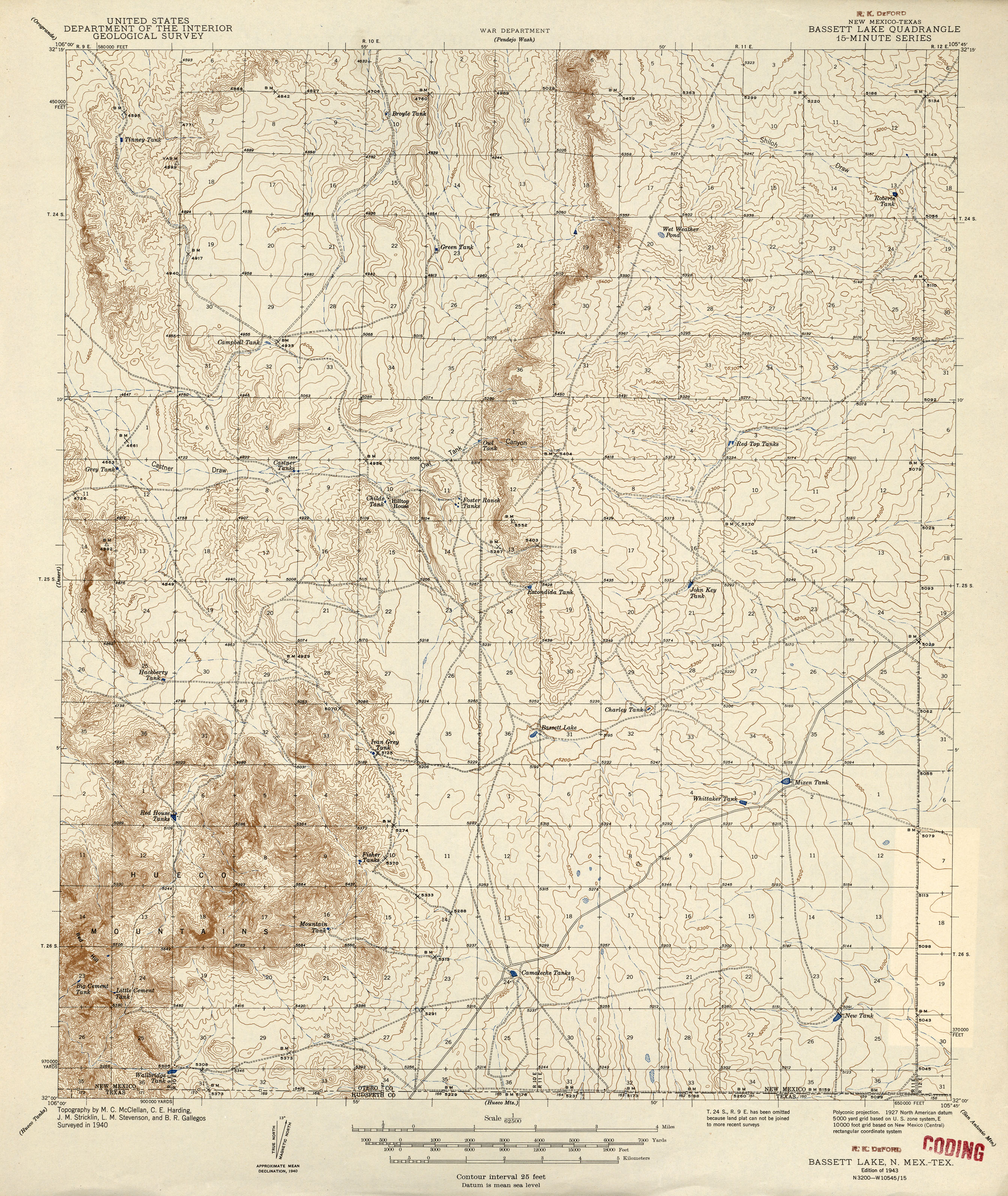 New Mexico Historical Topographic Maps - Perry-Castañeda Map ...
