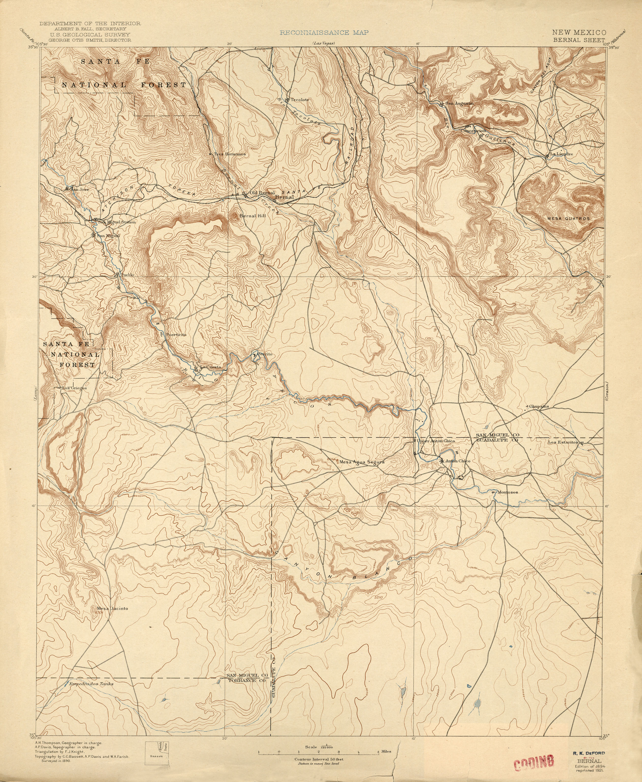 New Mexico Historical Topographic Maps  PerryCastaeda Map Collection  UT