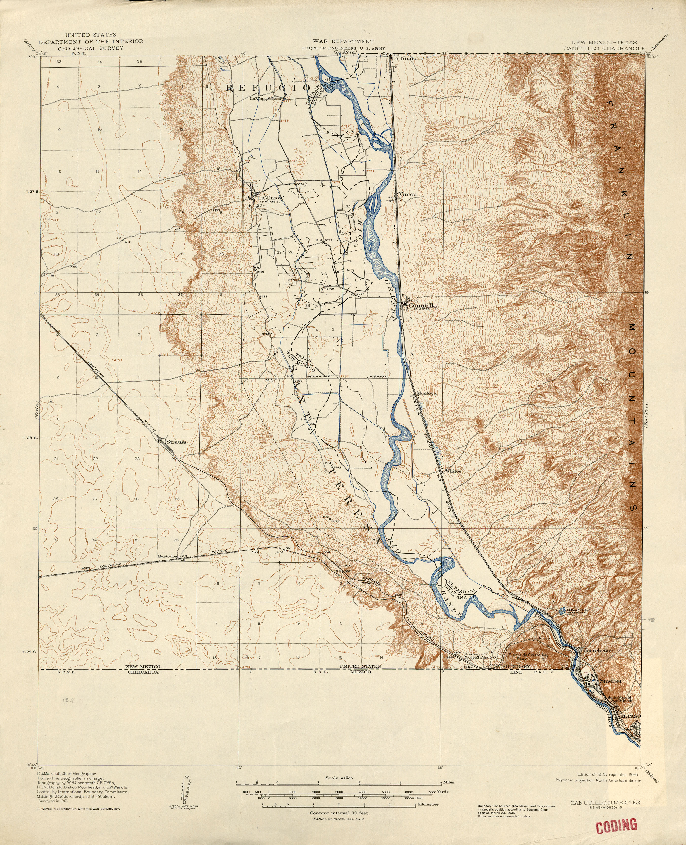 New Mexico Historical Topographic Maps PerryCastañeda Map - Maps new mexico