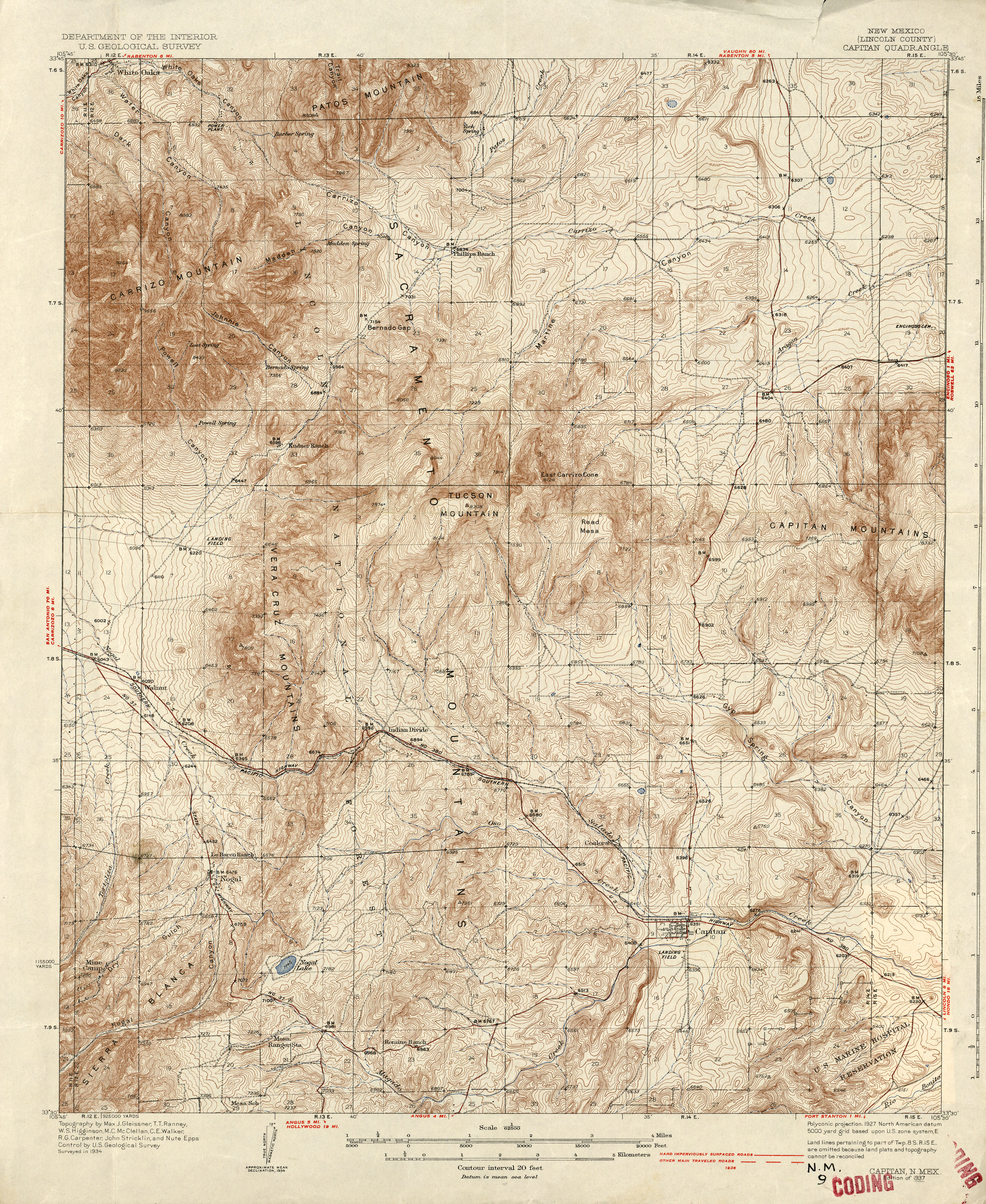 New Mexico Historical Topographic Maps PerryCastañeda Map - Topographical map of new mexico