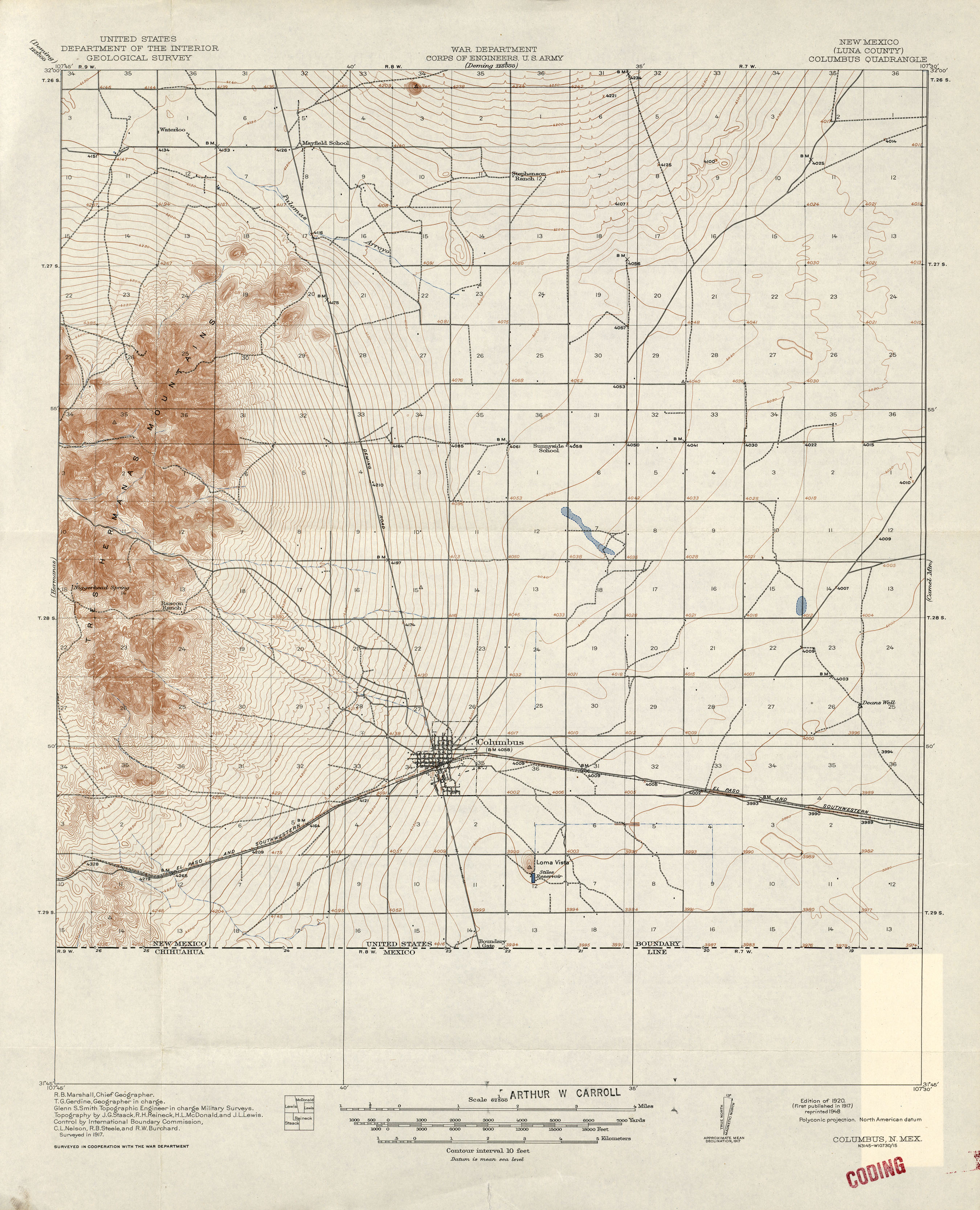 New Mexico Historical Topographic Maps PerryCastañeda Map - Us map new mexico