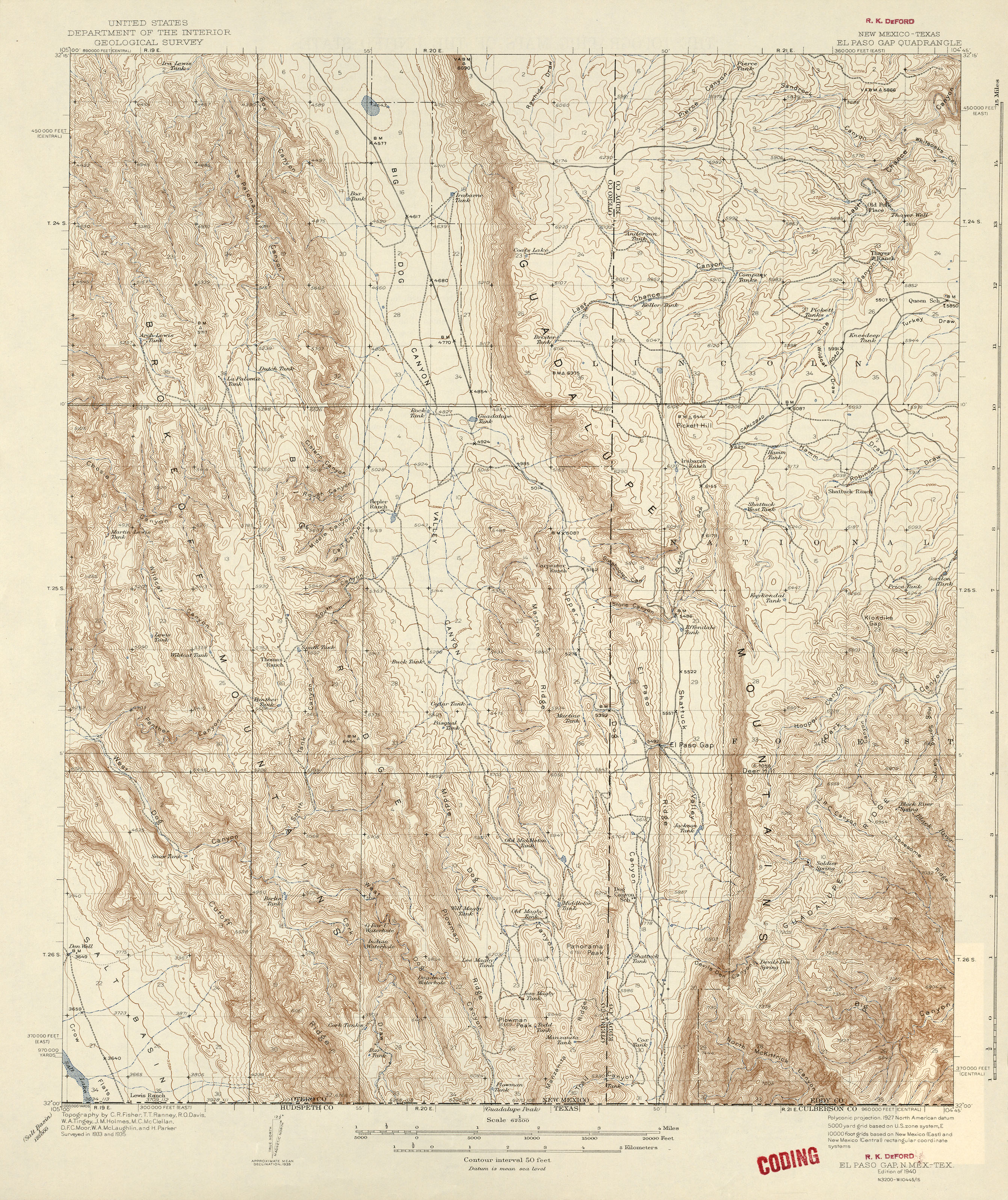 New Mexico Historical Topographic Maps PerryCastañeda Map - New mexico on us map