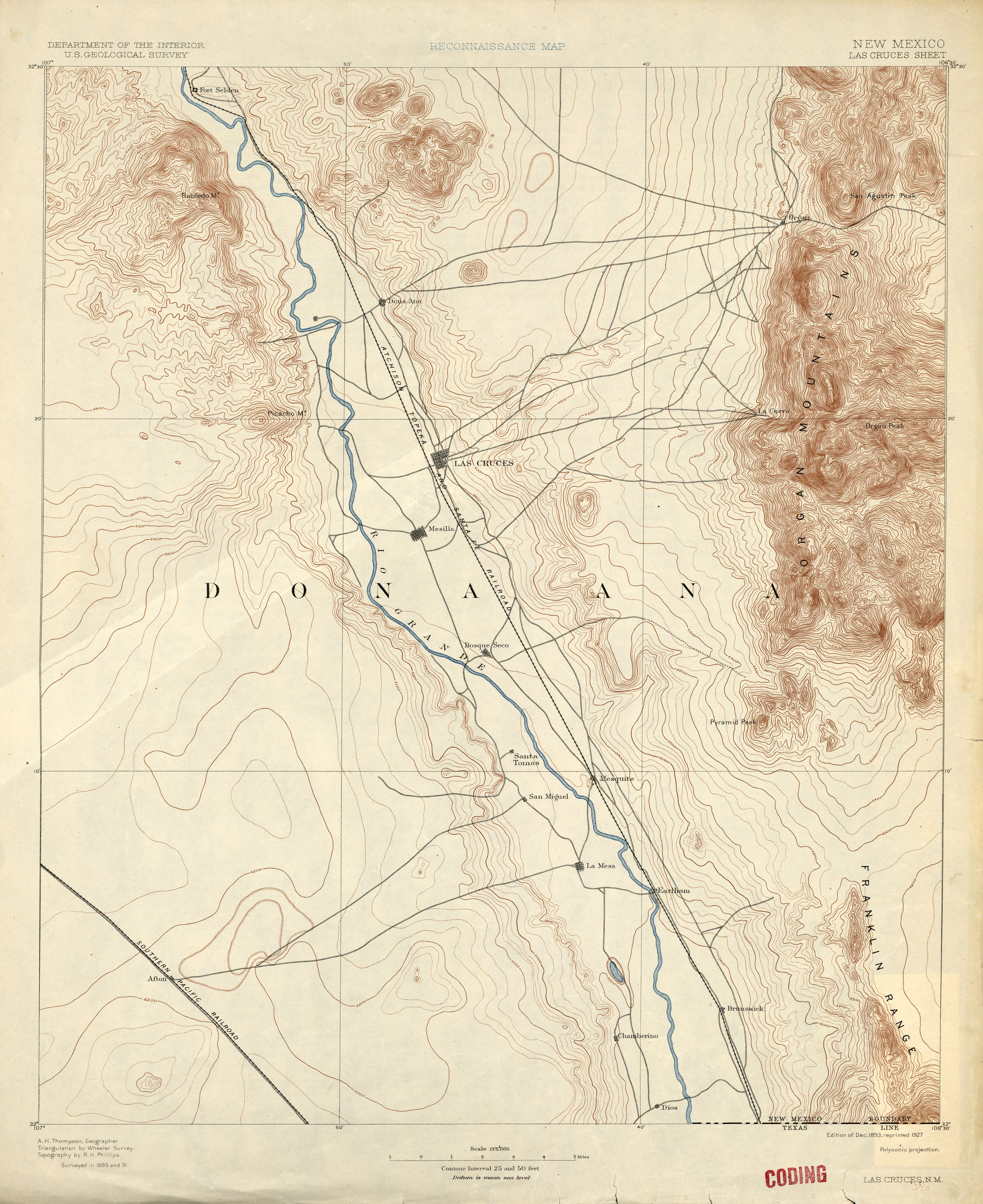 New Mexico Historical Topographic Maps PerryCastaeda Map