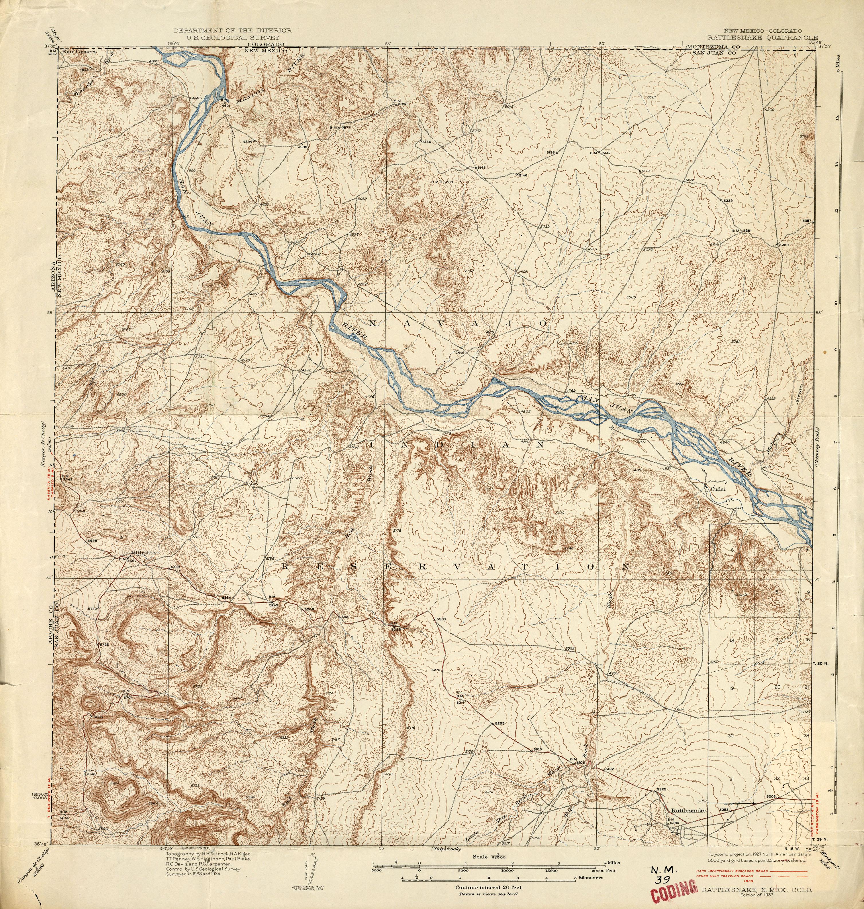 New Mexico Historical Topographic Maps PerryCastañeda Map - Colorado topo maps