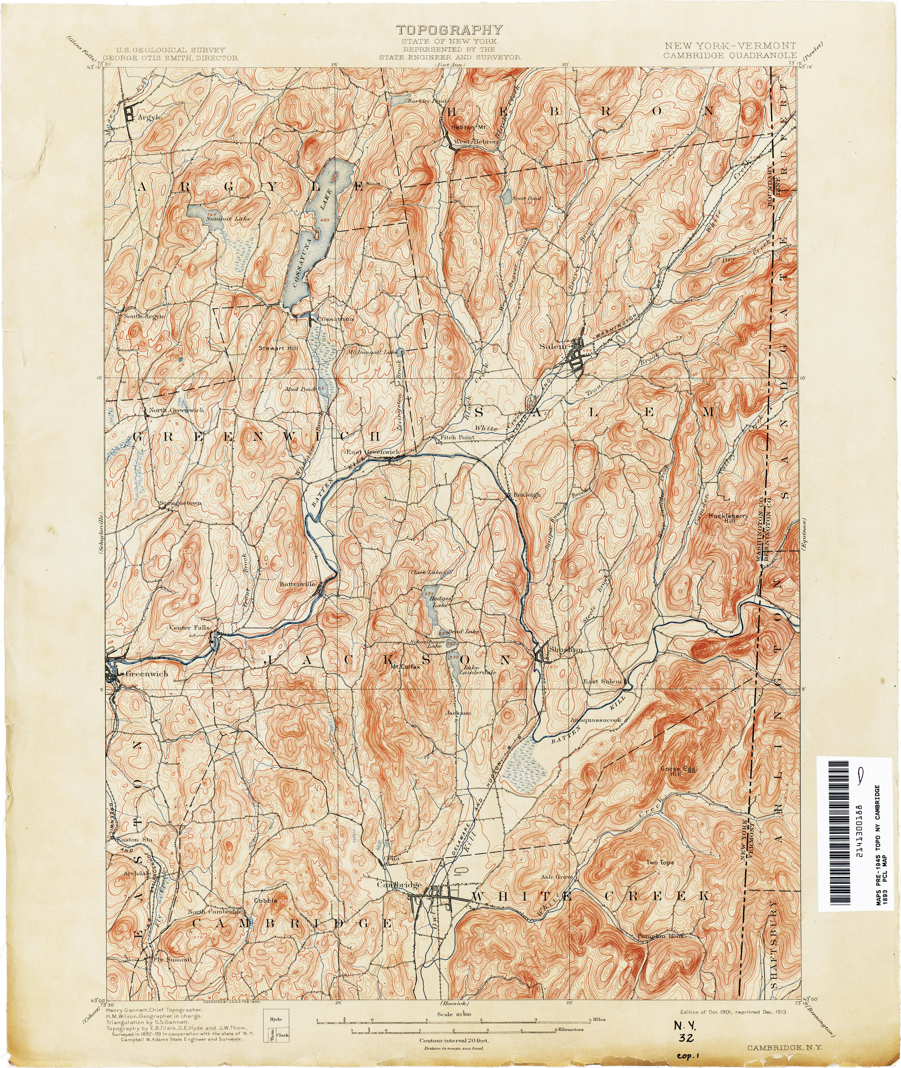 New York Topographic Maps - Perry-Castañeda Map Collection ...