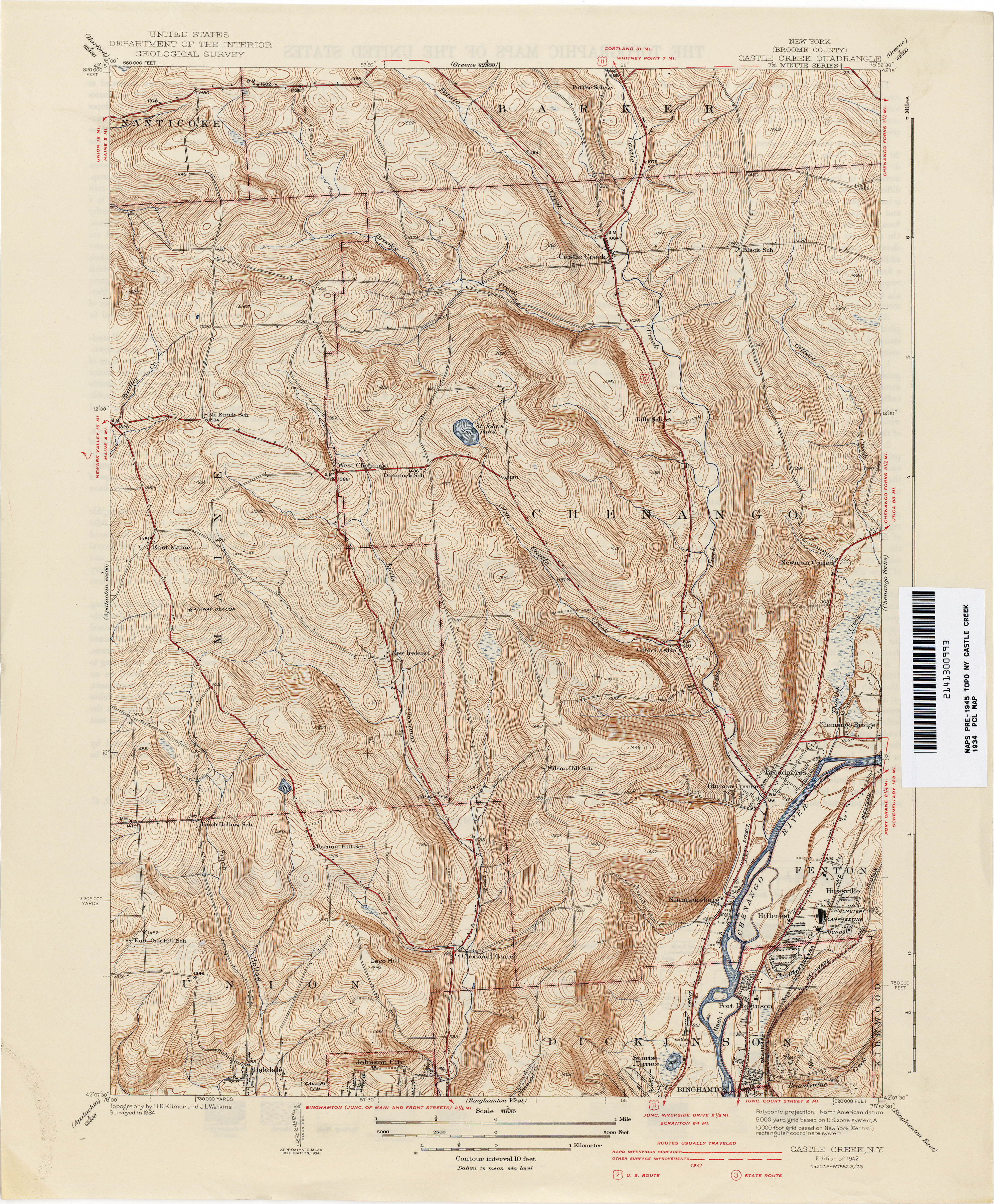 New York Topographic Maps PerryCastañeda Map Collection UT - 1934 us highways map midwest