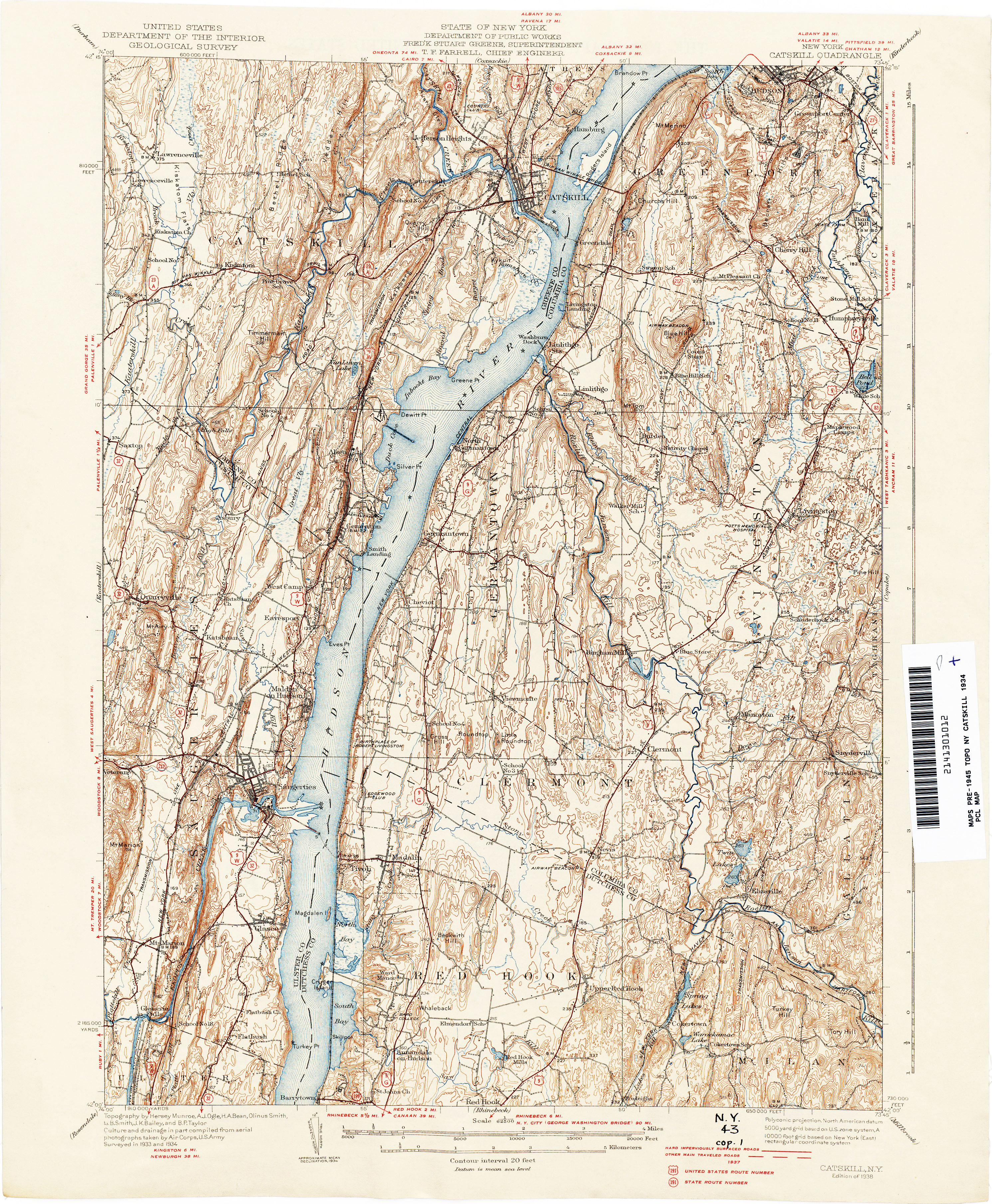 Us Highways Map Midwest - 1934 us highways map
