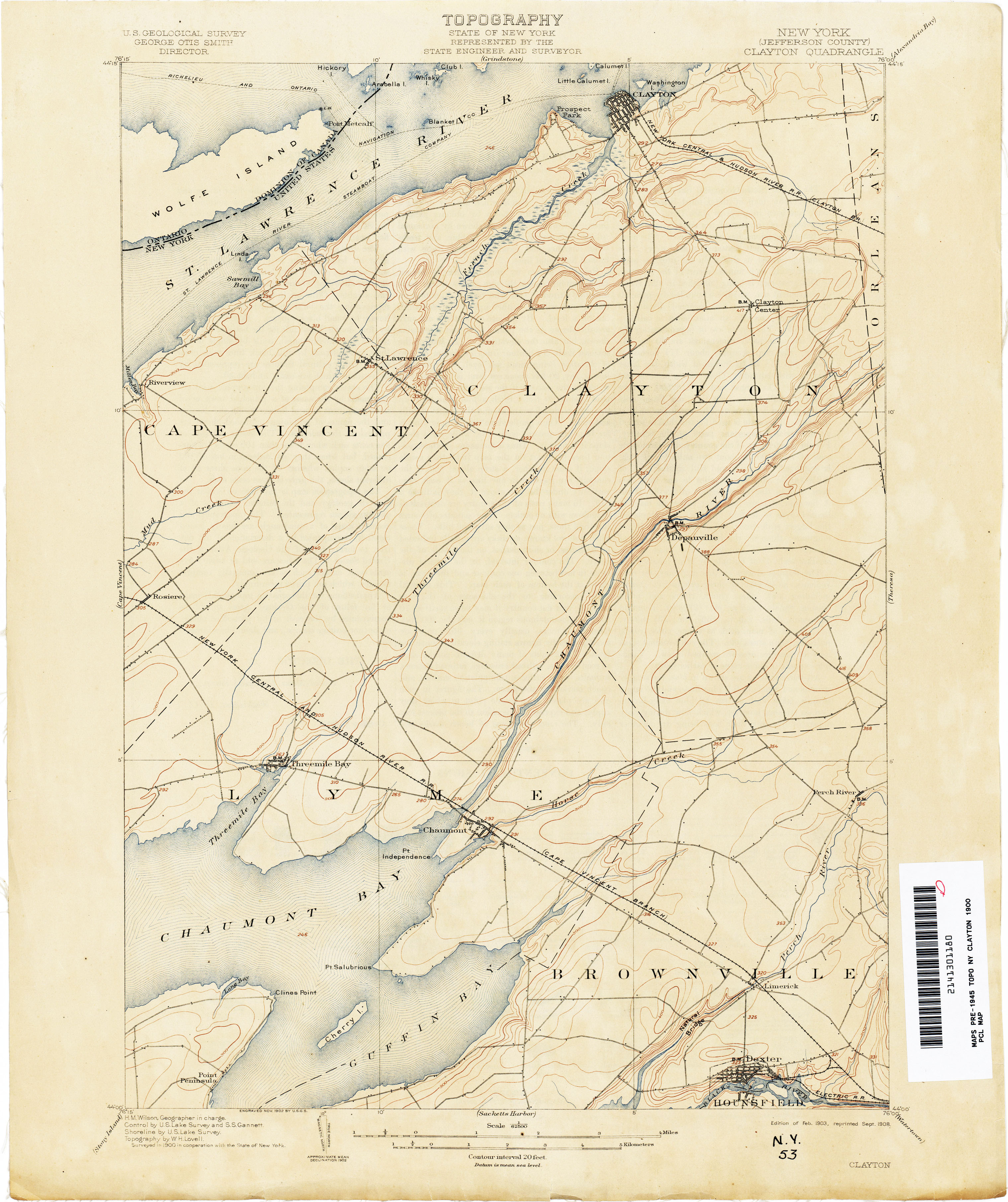 New York Topographic Maps  PerryCastaeda Map Collection