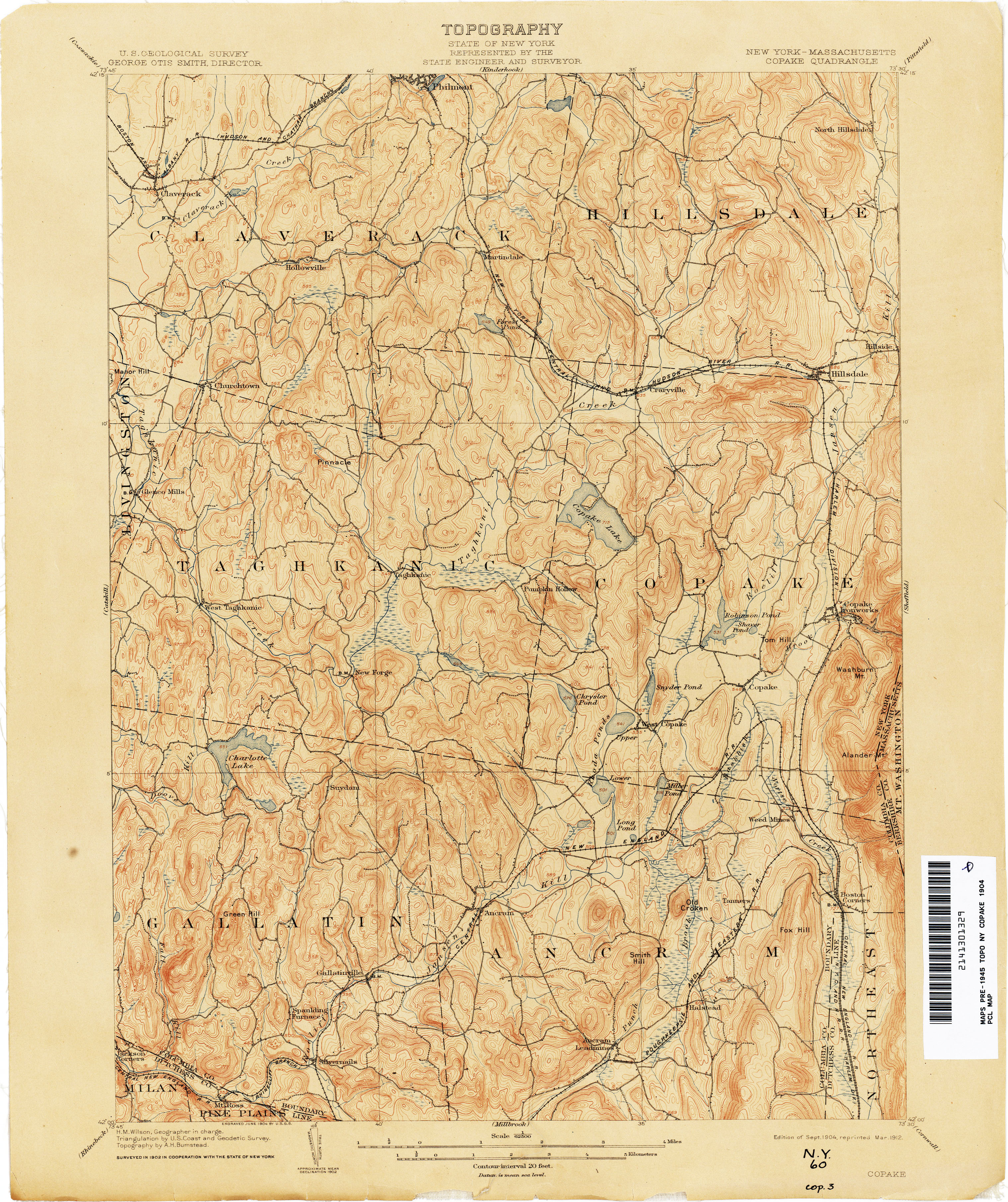 New York Topographic Maps Perry Castaneda Map Collection Ut