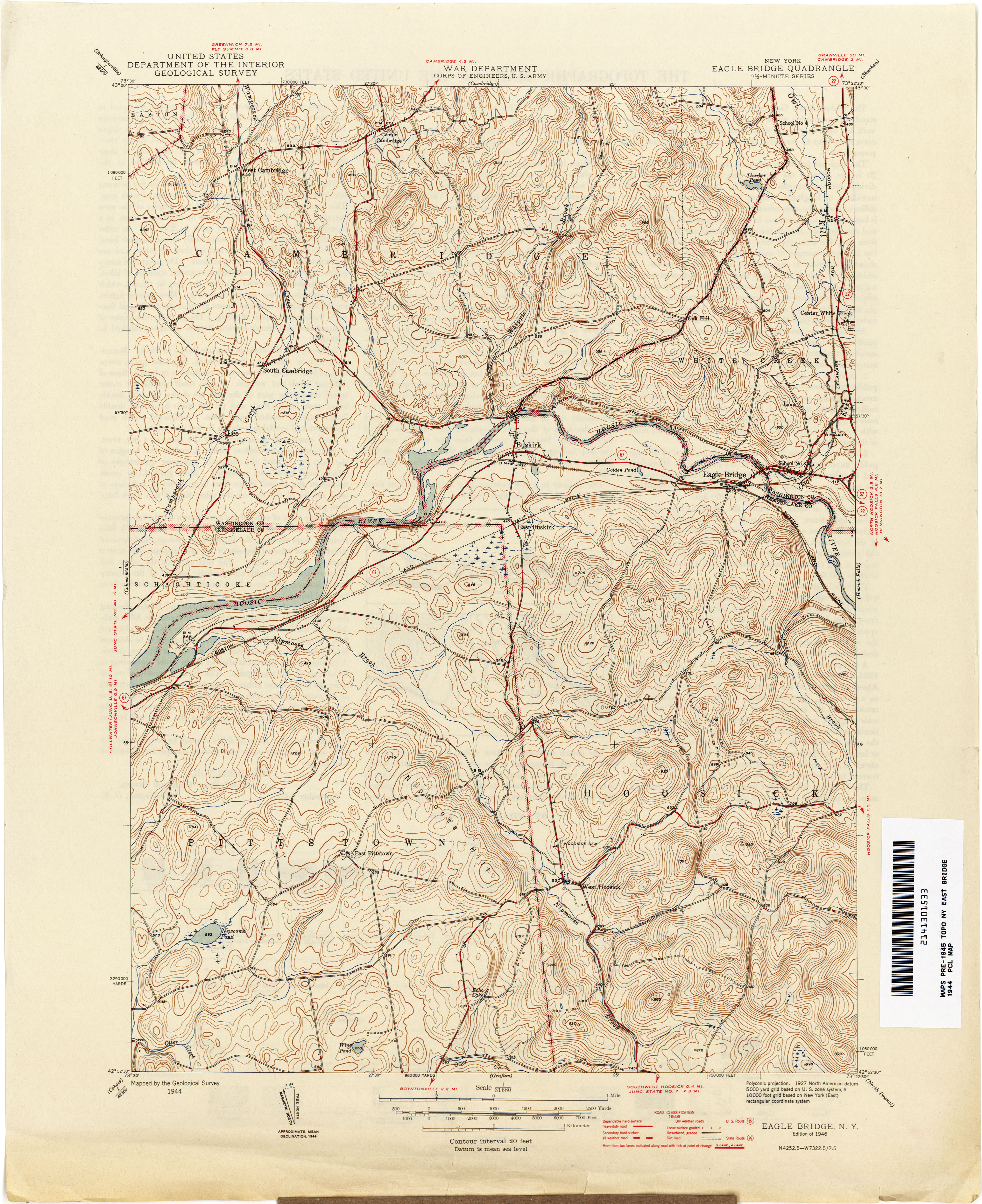 New York Topographic Maps PerryCastañeda Map Collection UT - 1896 map of us