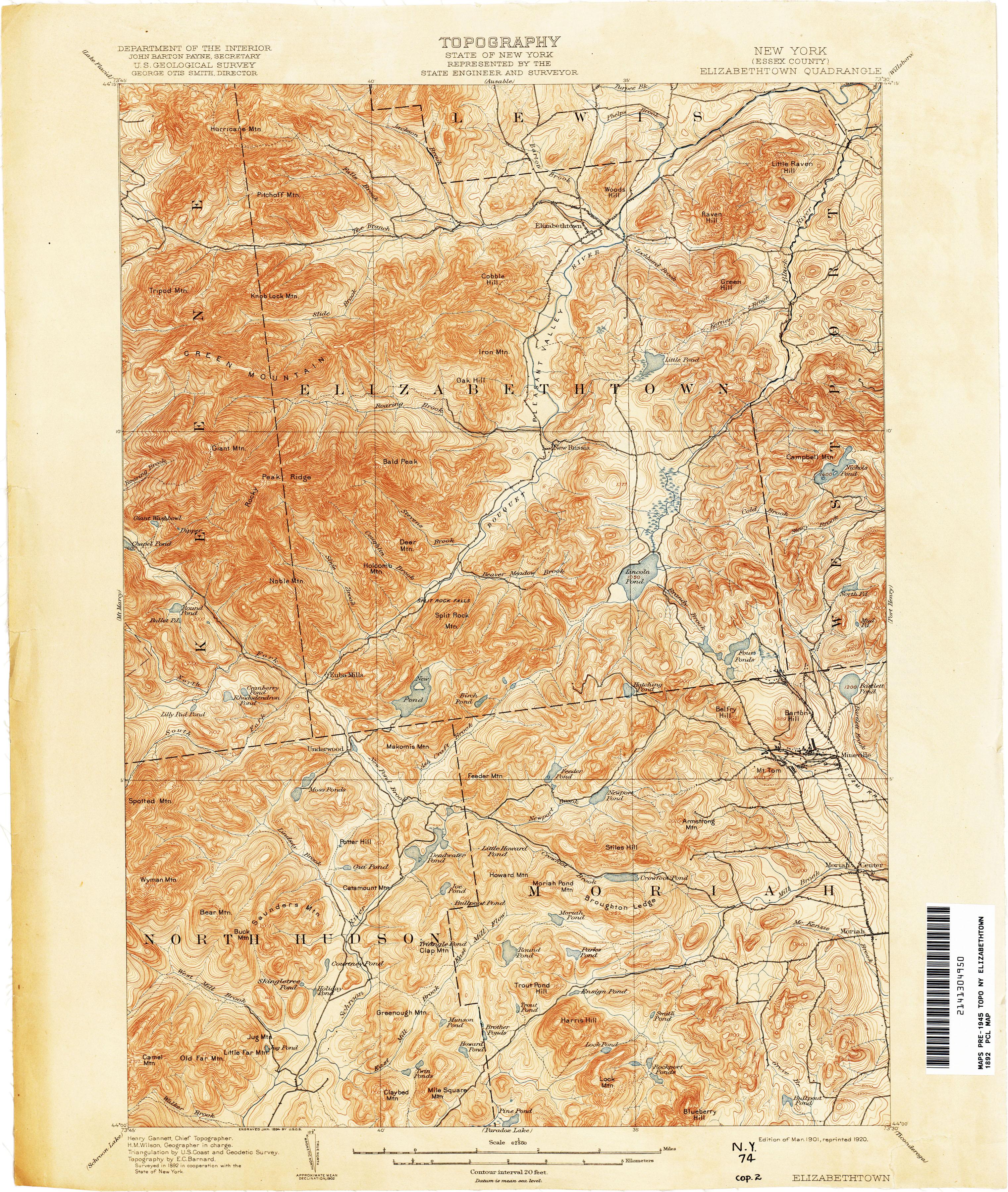 New York Topographic Maps PerryCastaeda Map Collection UT