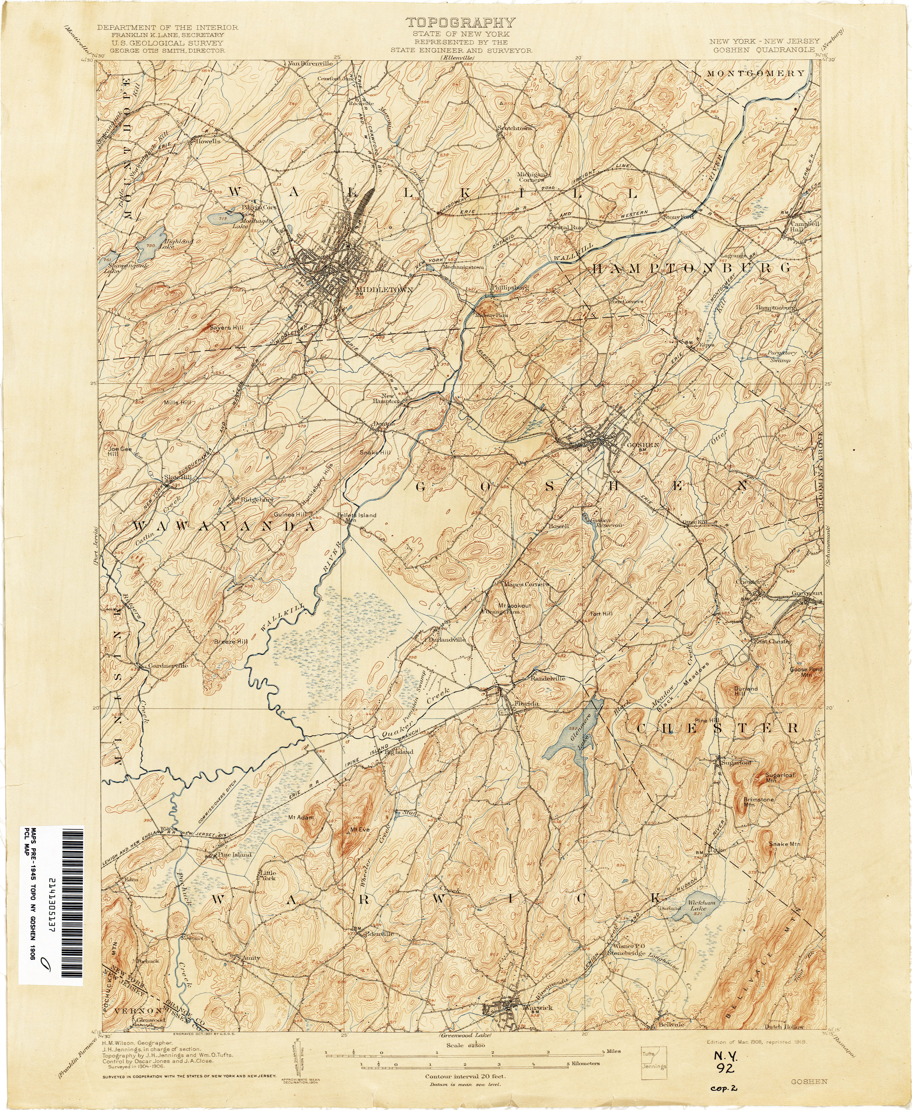 New York Topographic Maps PerryCastañeda Map Collection UT - New york jersey map