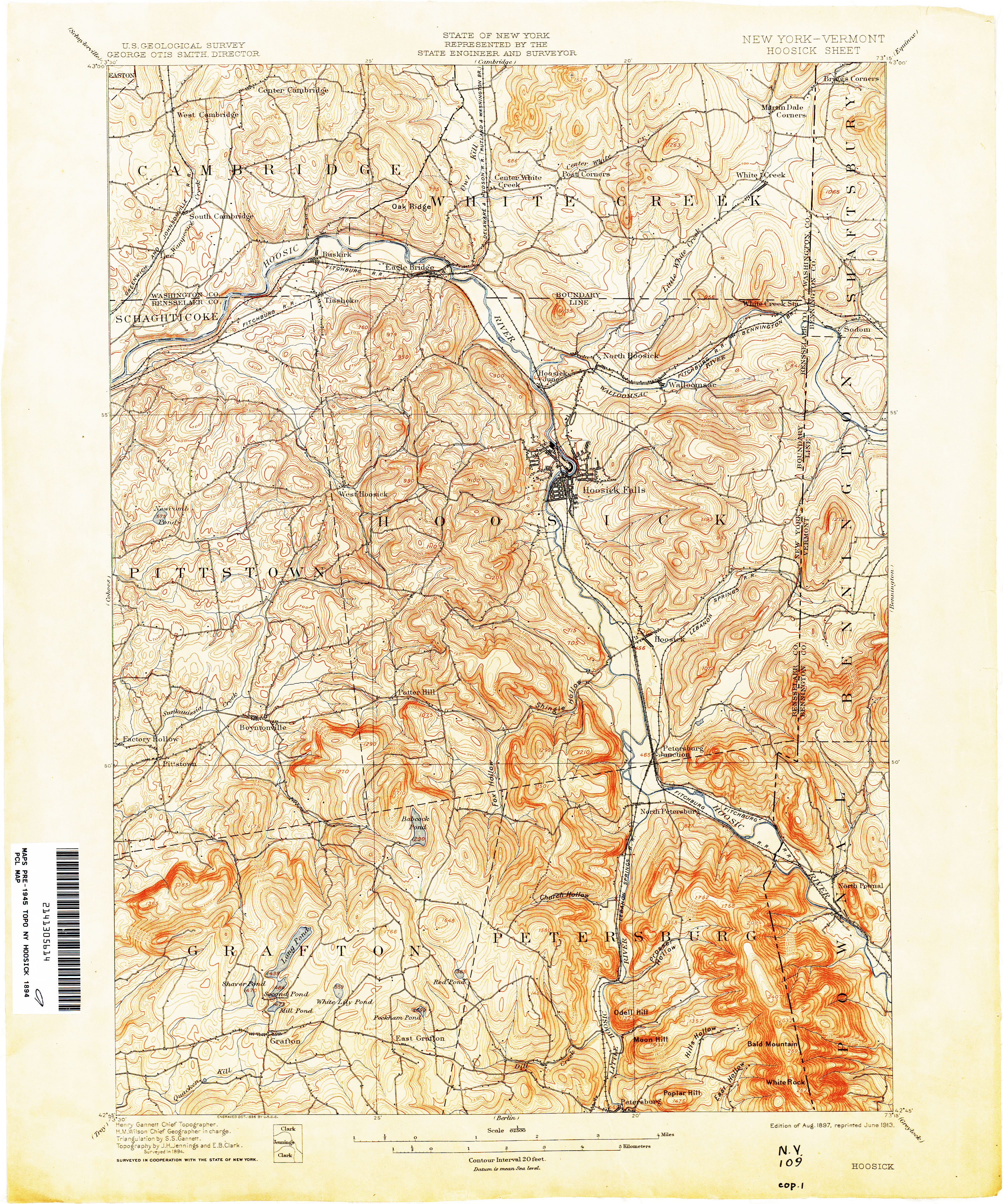 Vermont Historical Topographic Maps PerryCastañeda Map - New york vermont map