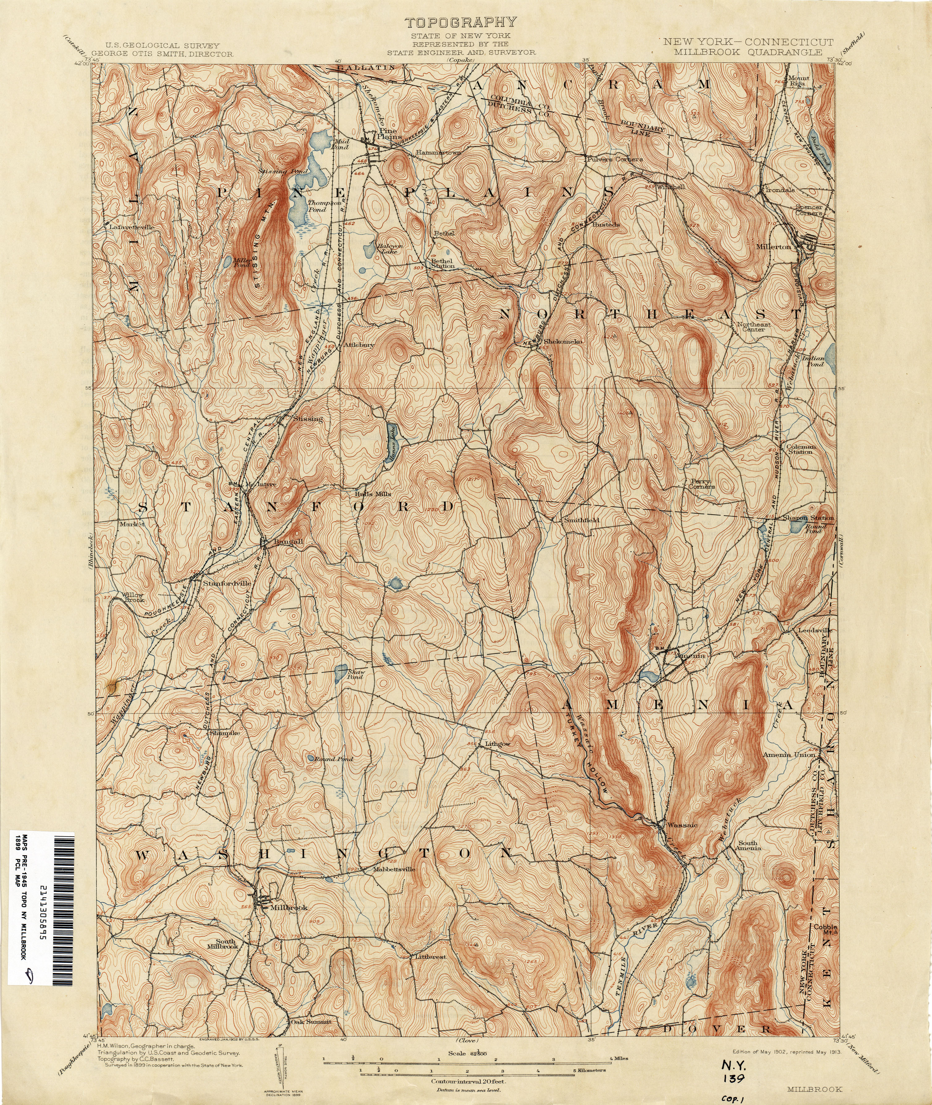 Connecticut Historical Topographic Maps - Perry-Castañeda Map ...