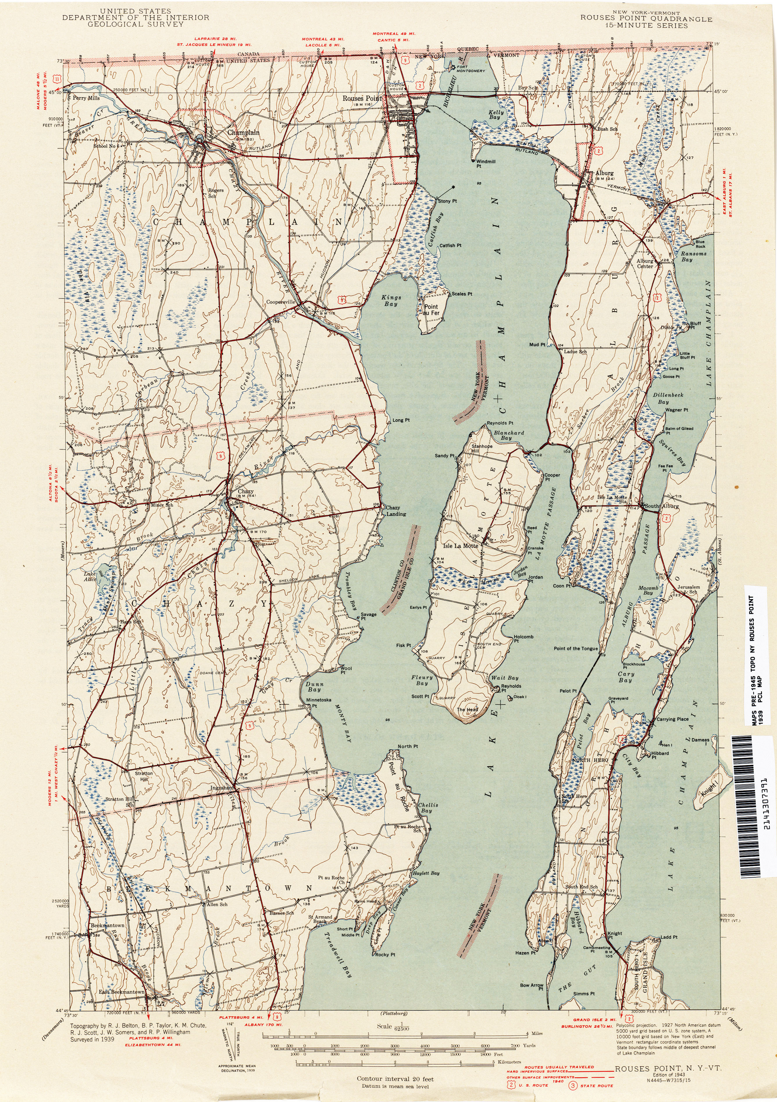 Vermont Historical Topographic Maps - Perry-Castañeda Map ...