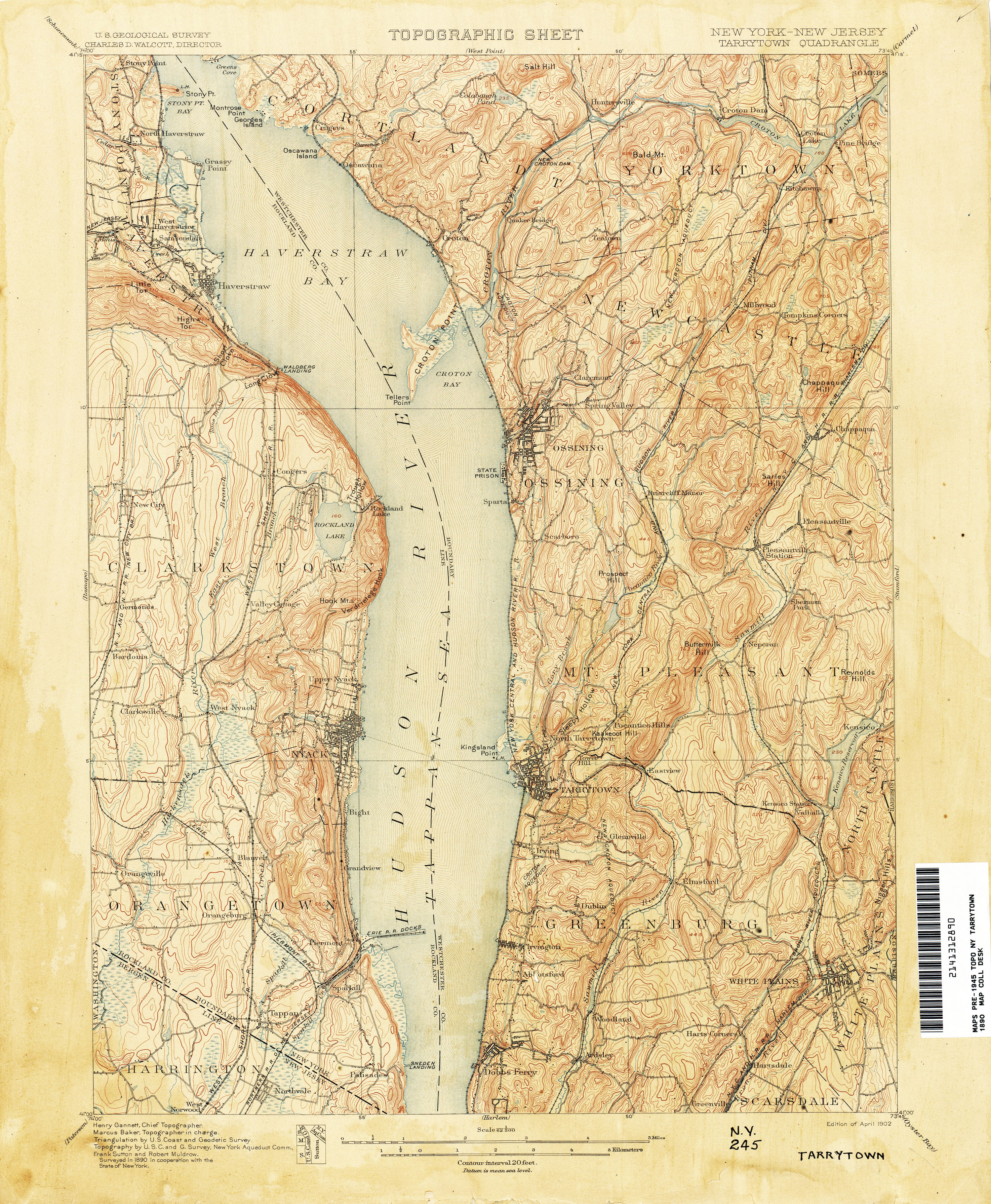 New Jersey Topographic Maps PerryCastañeda Map Collection UT - New york jersey map