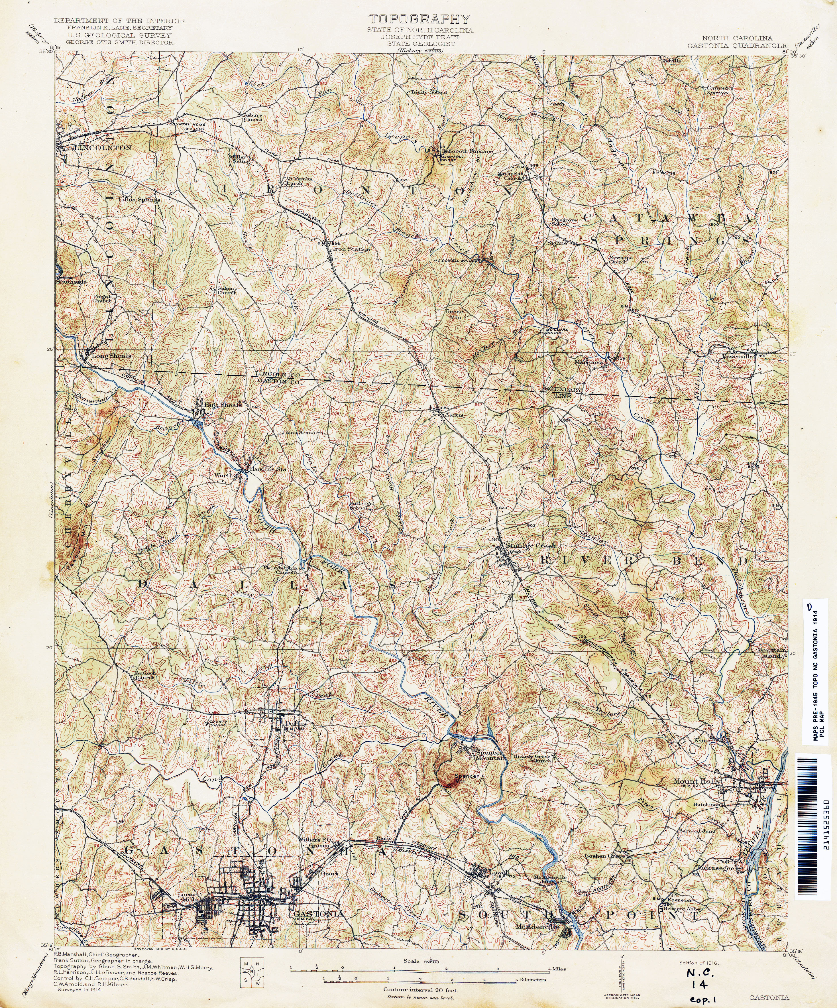 Gaston Nc Map.Topographic Maps Libguides At Gaston County Public Library