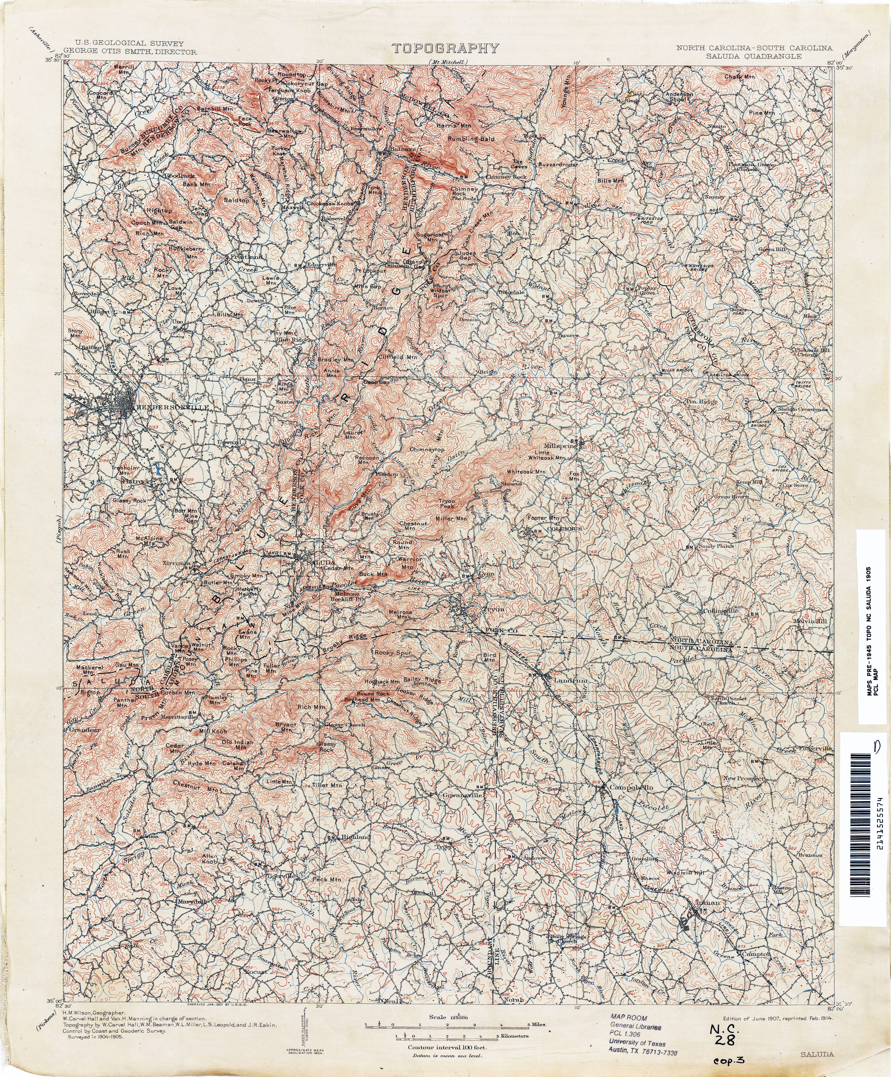 South Carolina Historical Topographic Maps PerryCastañeda Map - Map washington dc to charlotte nc