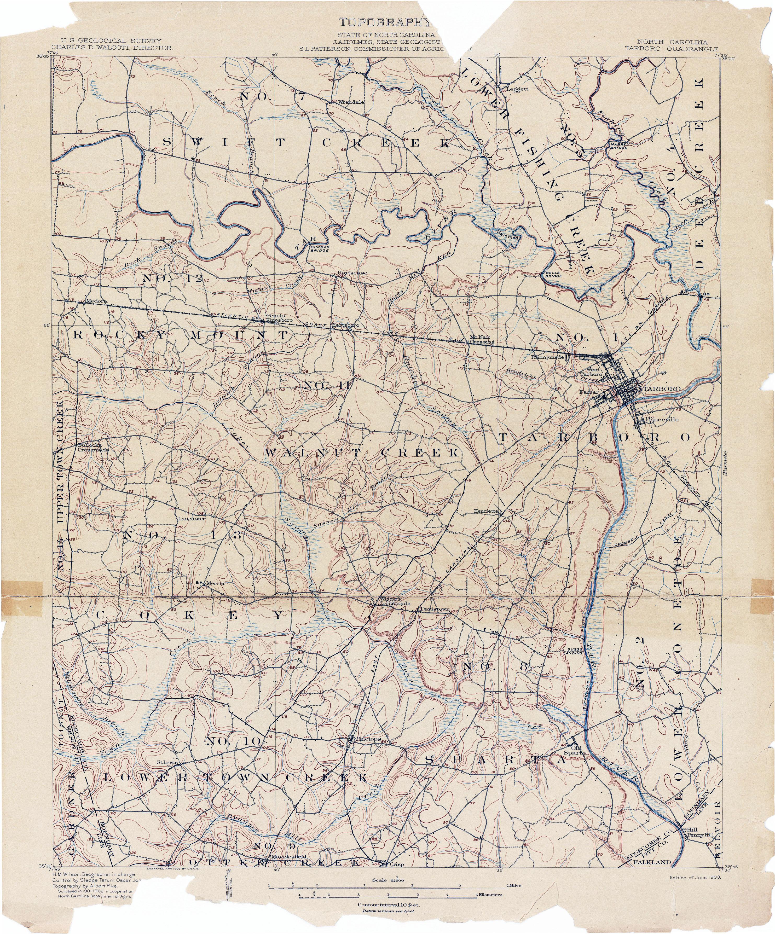 North Carolina Historical Topographic Maps PerryCastañeda Map - Map of no carolina