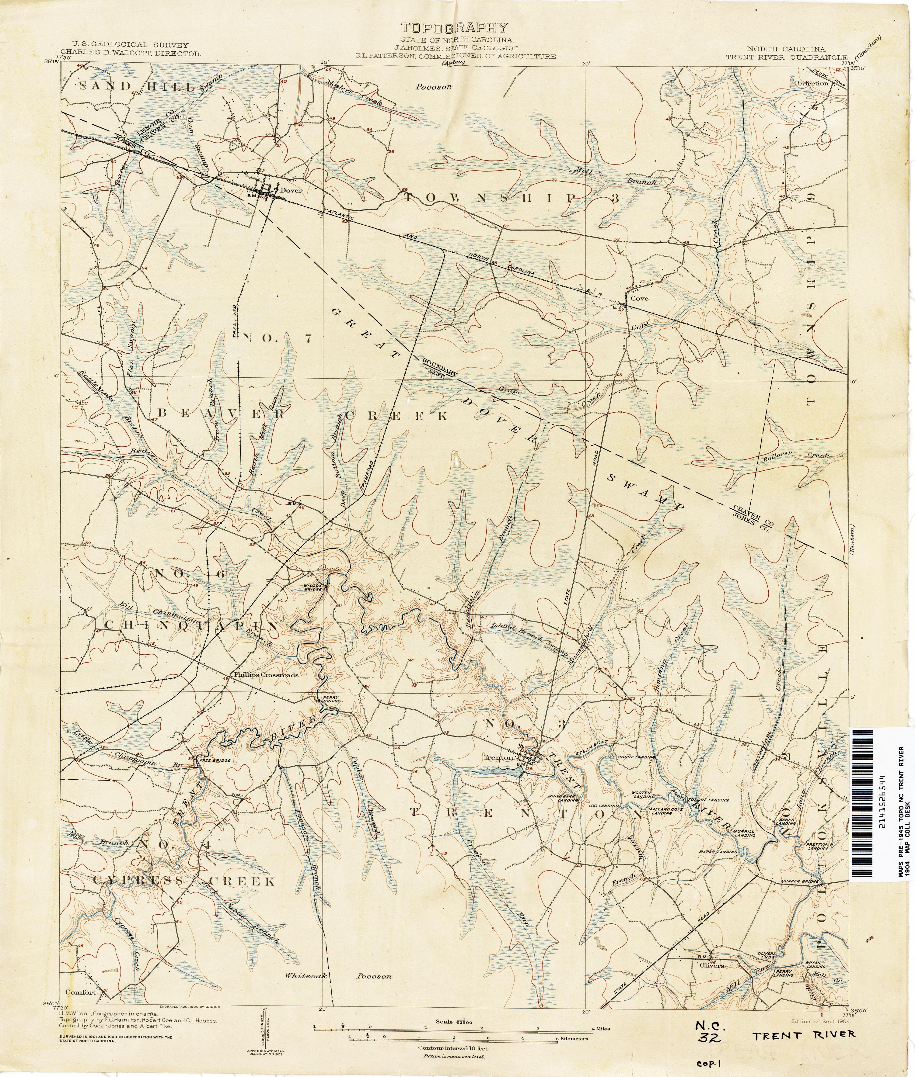 Hamilton Nc Map.North Carolina Historical Topographic Maps Perry Castaneda Map