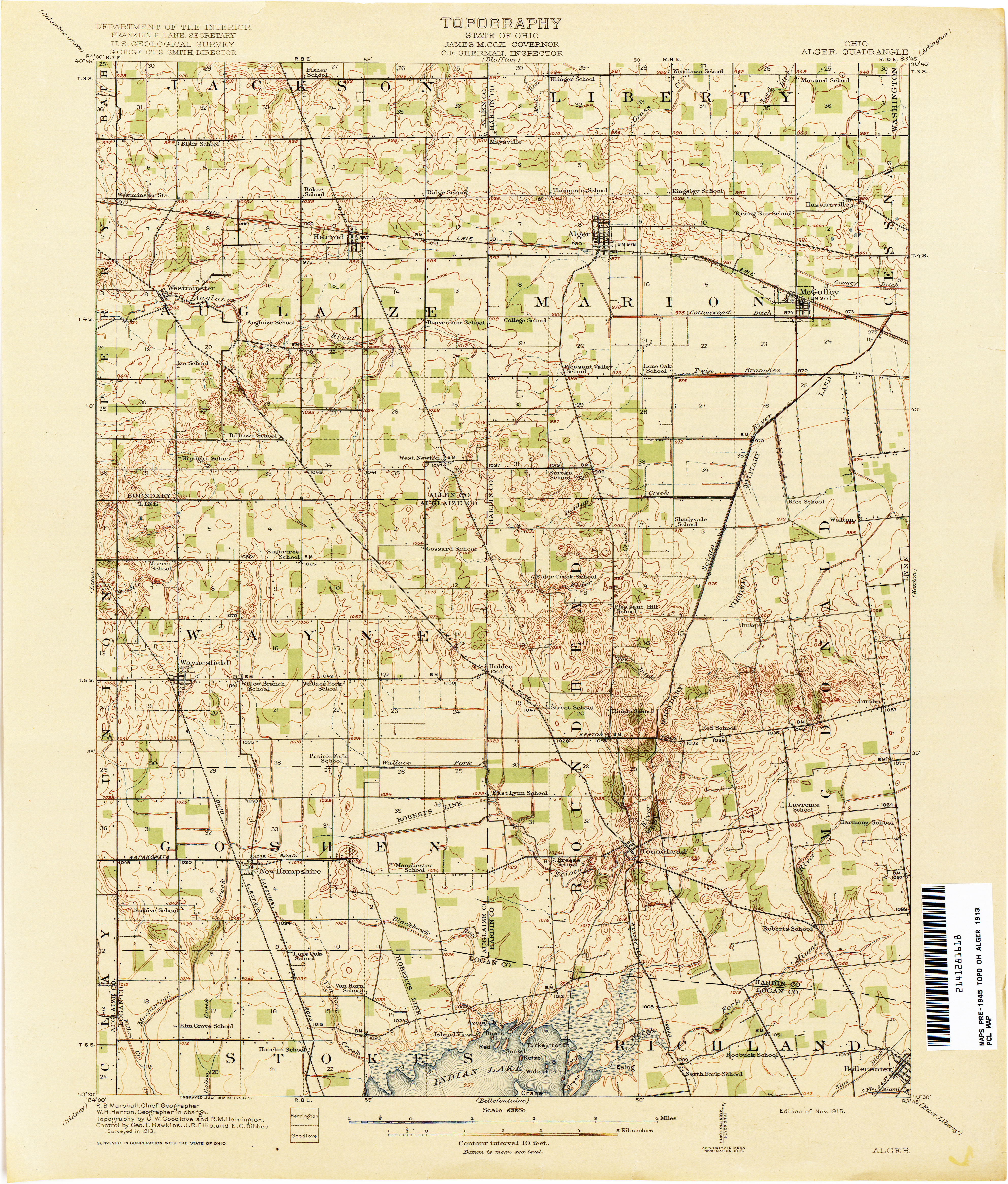 Ohio Historical Topographic Maps Perry Casta±eda Map Collection