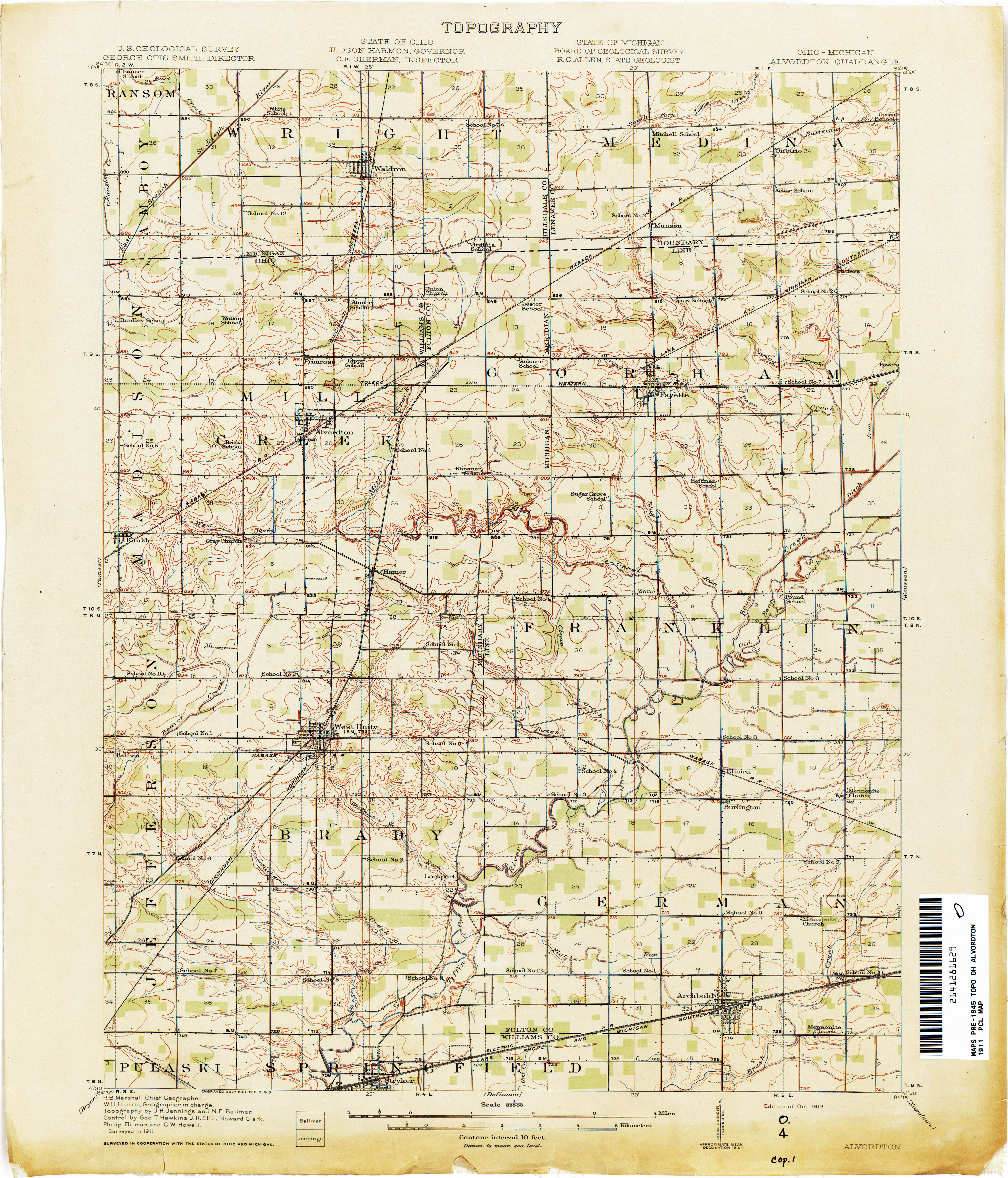 Michigan And Ohio Map.Historical Topographic Maps Perry Castaneda Map Collection Ut