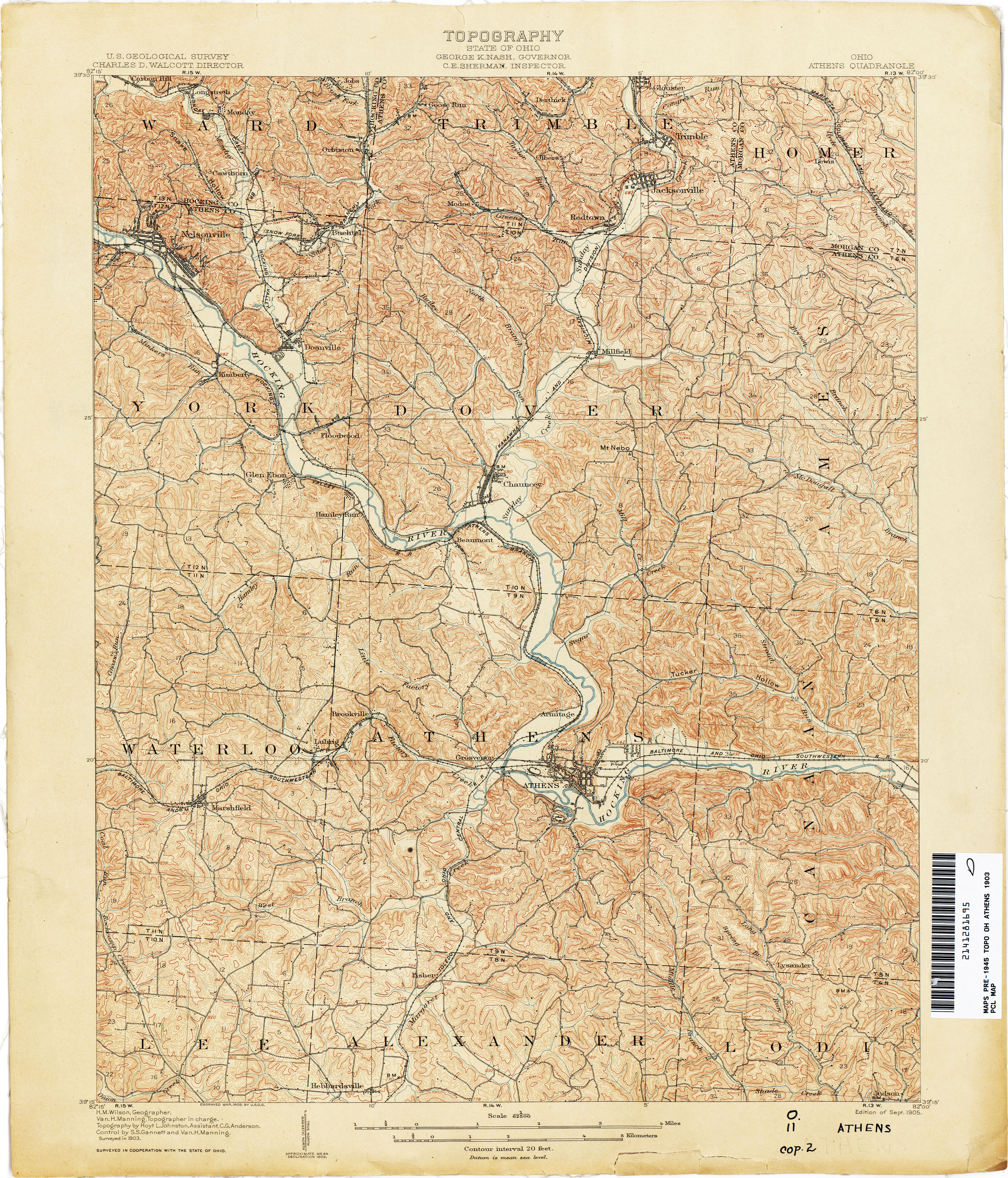 Ohio Historical Topographic Maps PerryCastaeda Map Collection