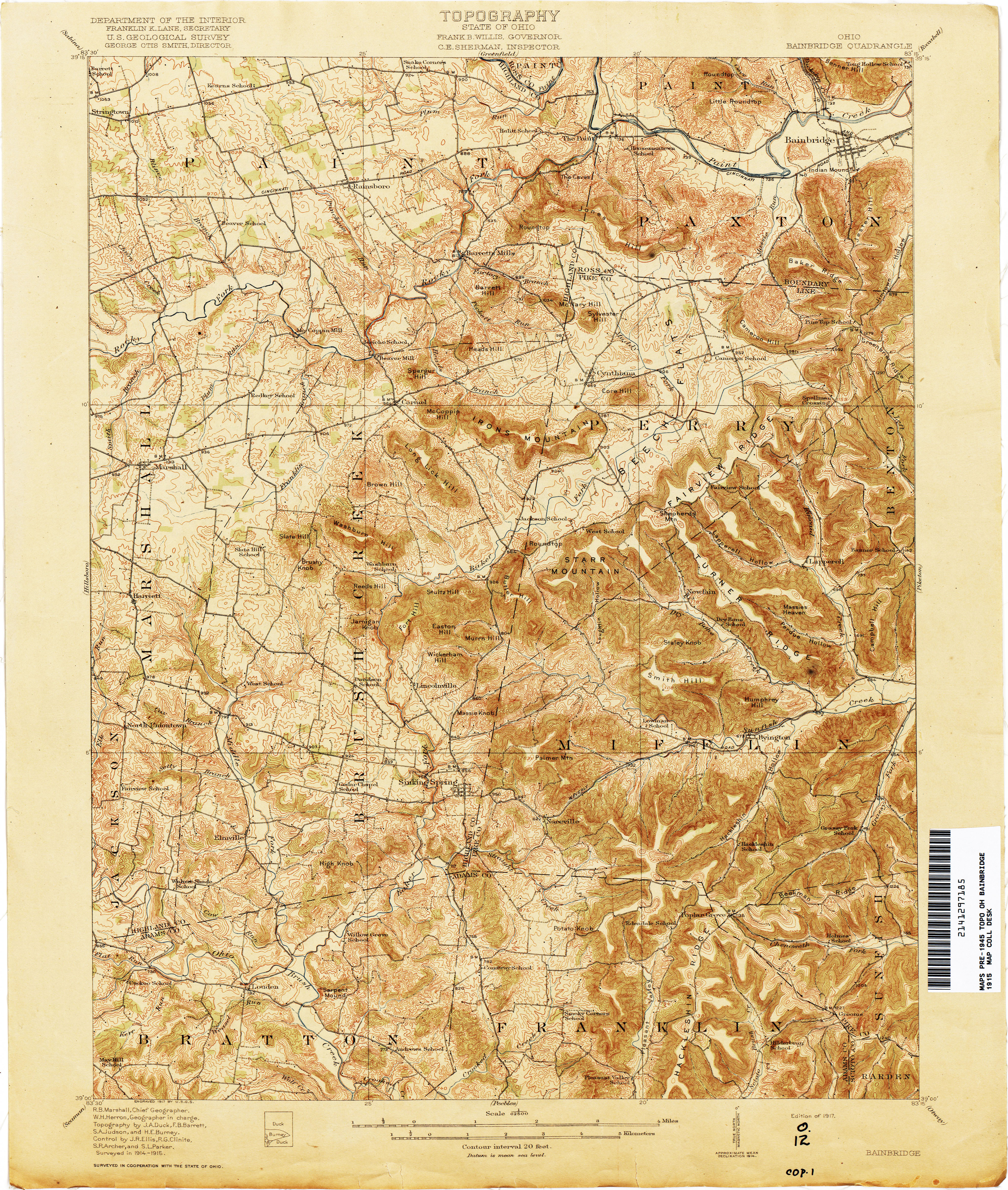 Ohio Historical Topographic Maps PerryCastañeda Map Collection - Us geological topographic maps
