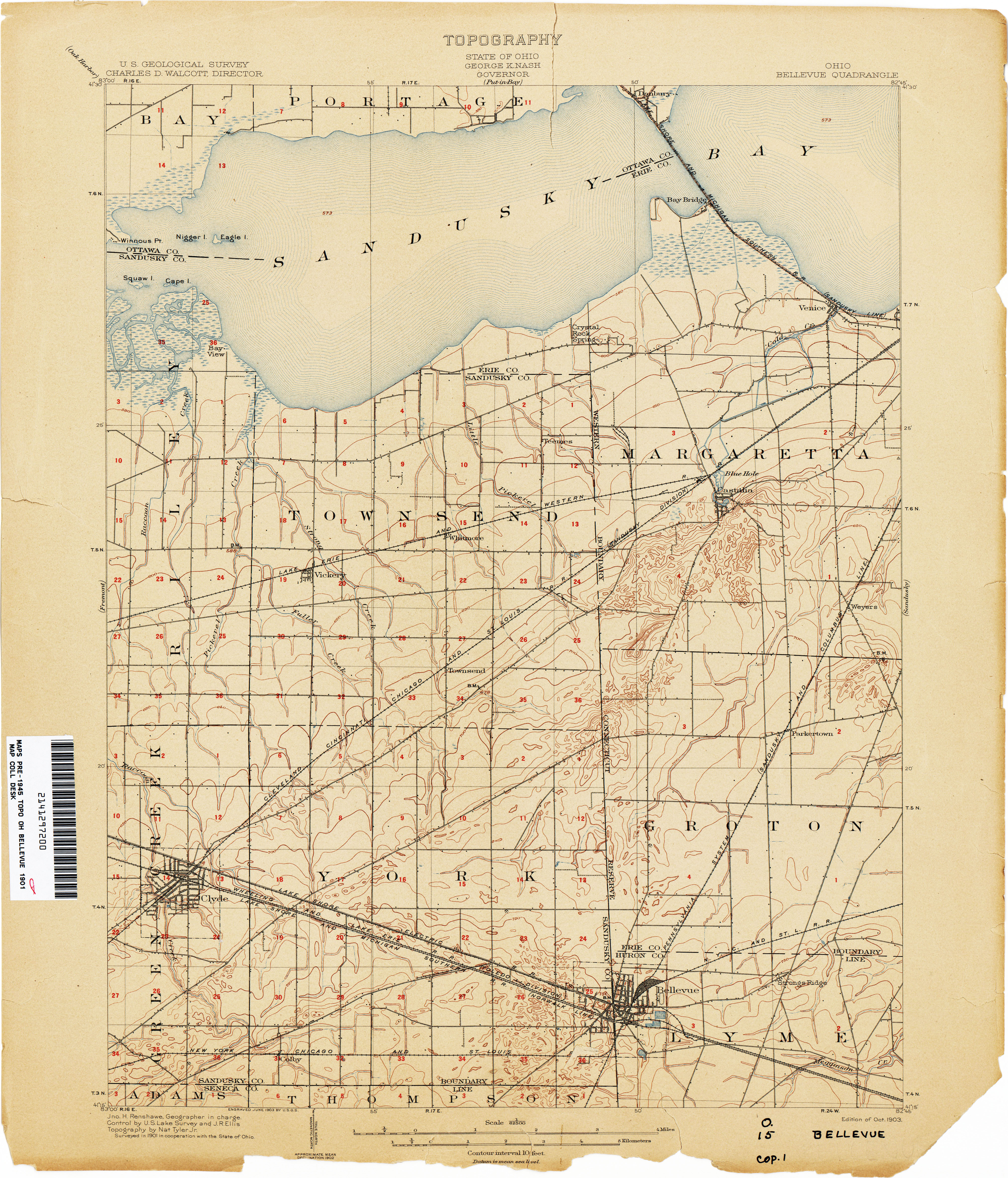 Ohio Historical Topographic Maps Perry Castaneda Map Collection