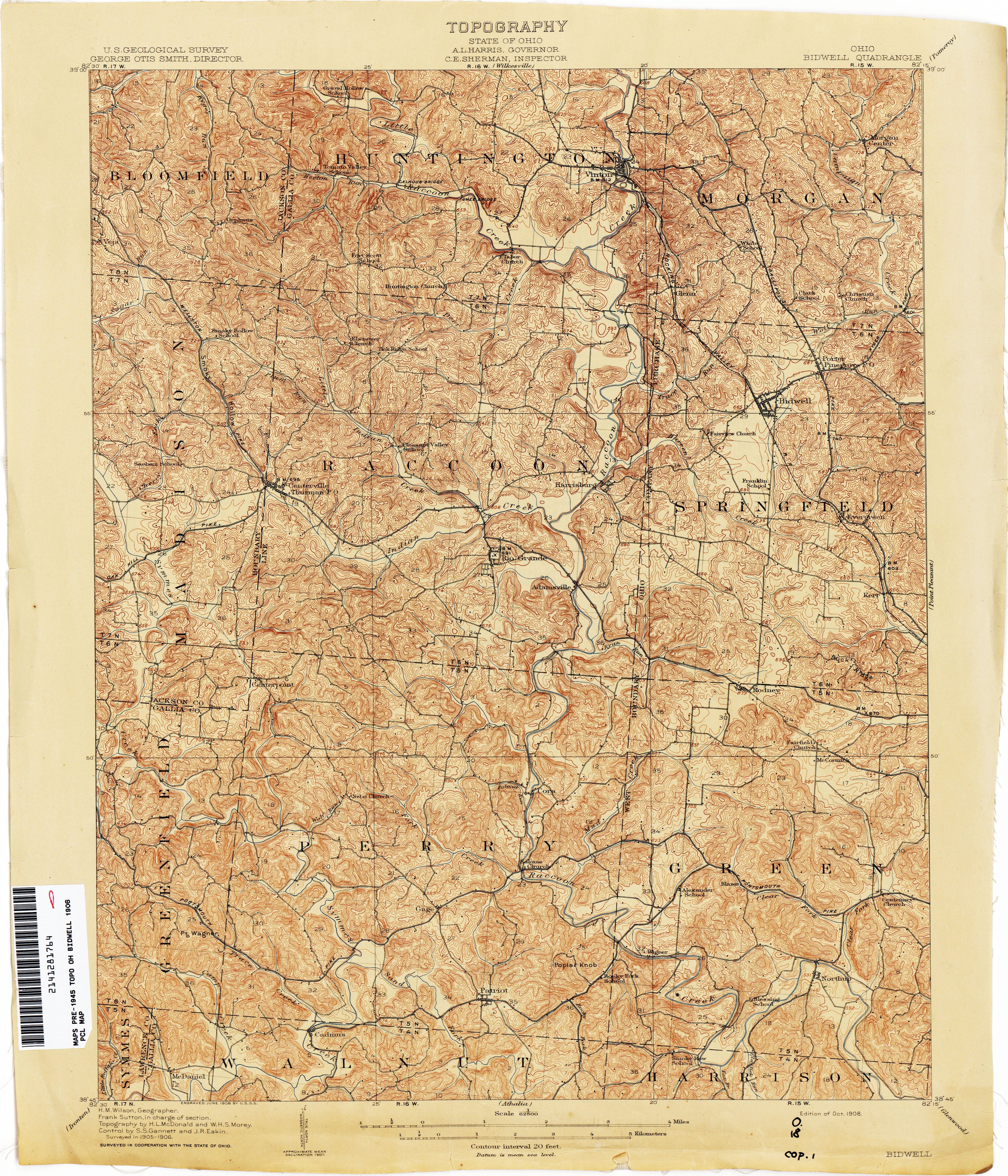 Ohio historical topographic maps perry castaeda map collection ohio historical topographic maps sciox Images