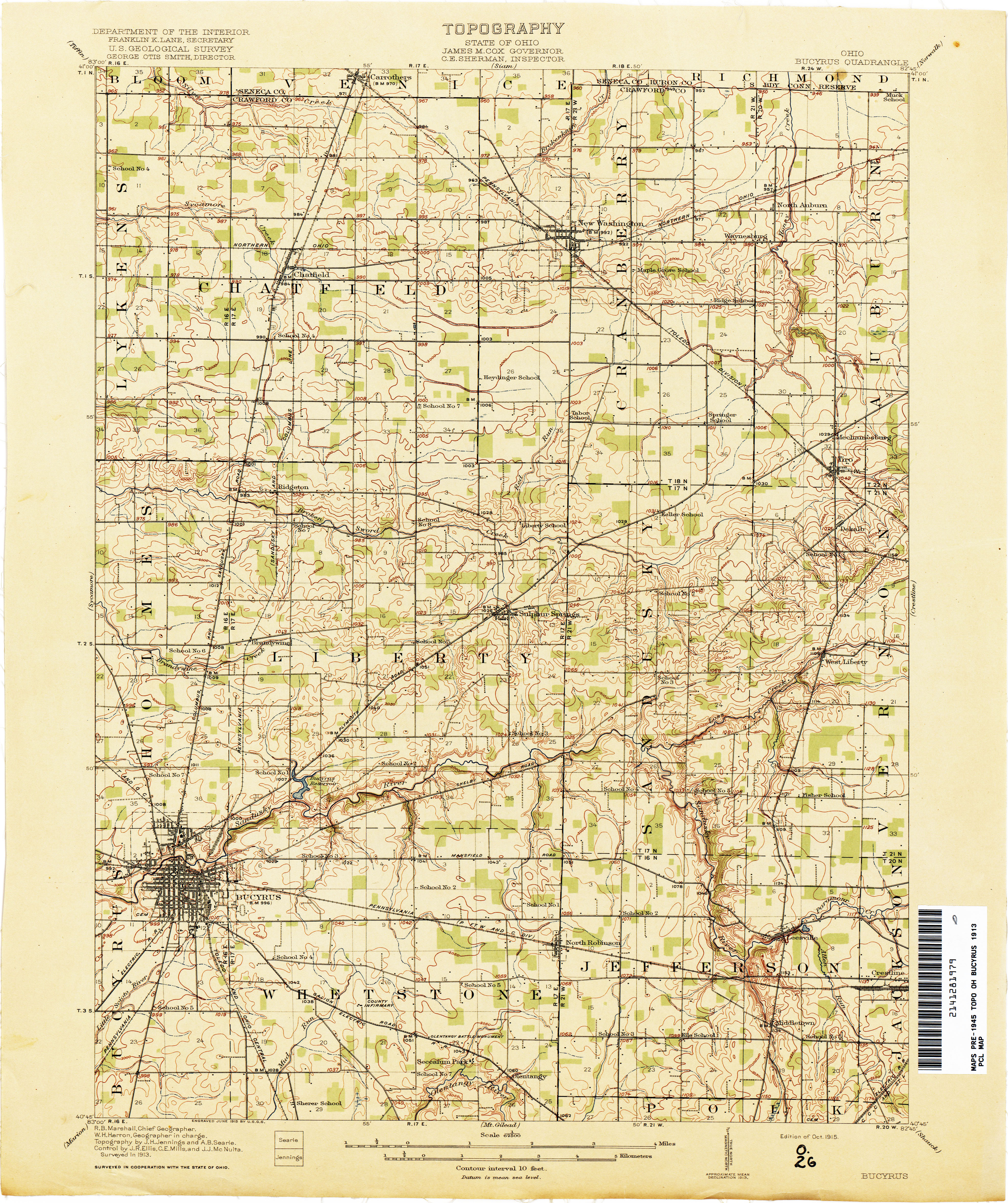 Ohio Historical Topographic Maps PerryCastañeda Map Collection - Mapofohio