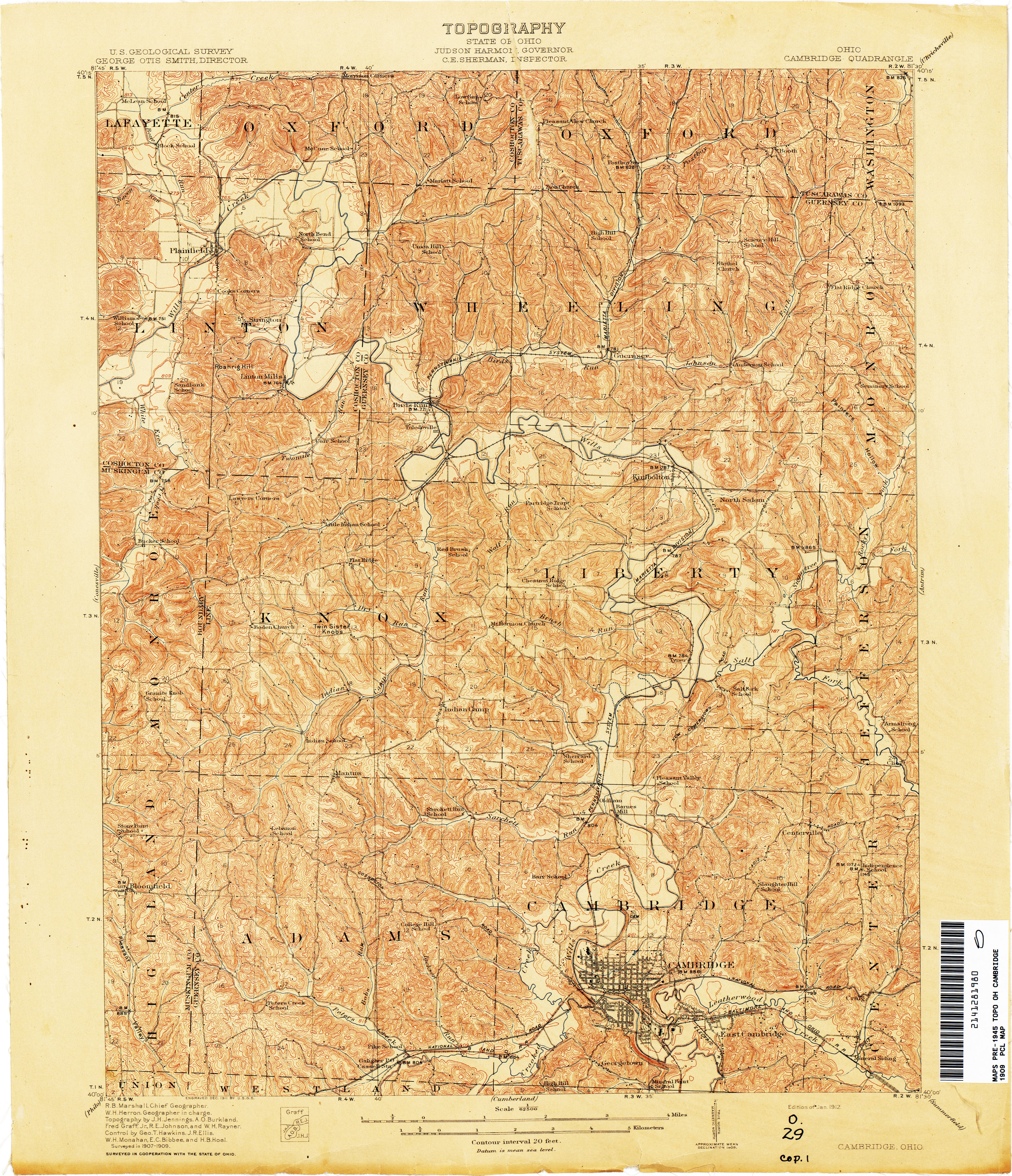 Ohio Historical Topographic Maps - Perry-Castañeda Map Collection ...