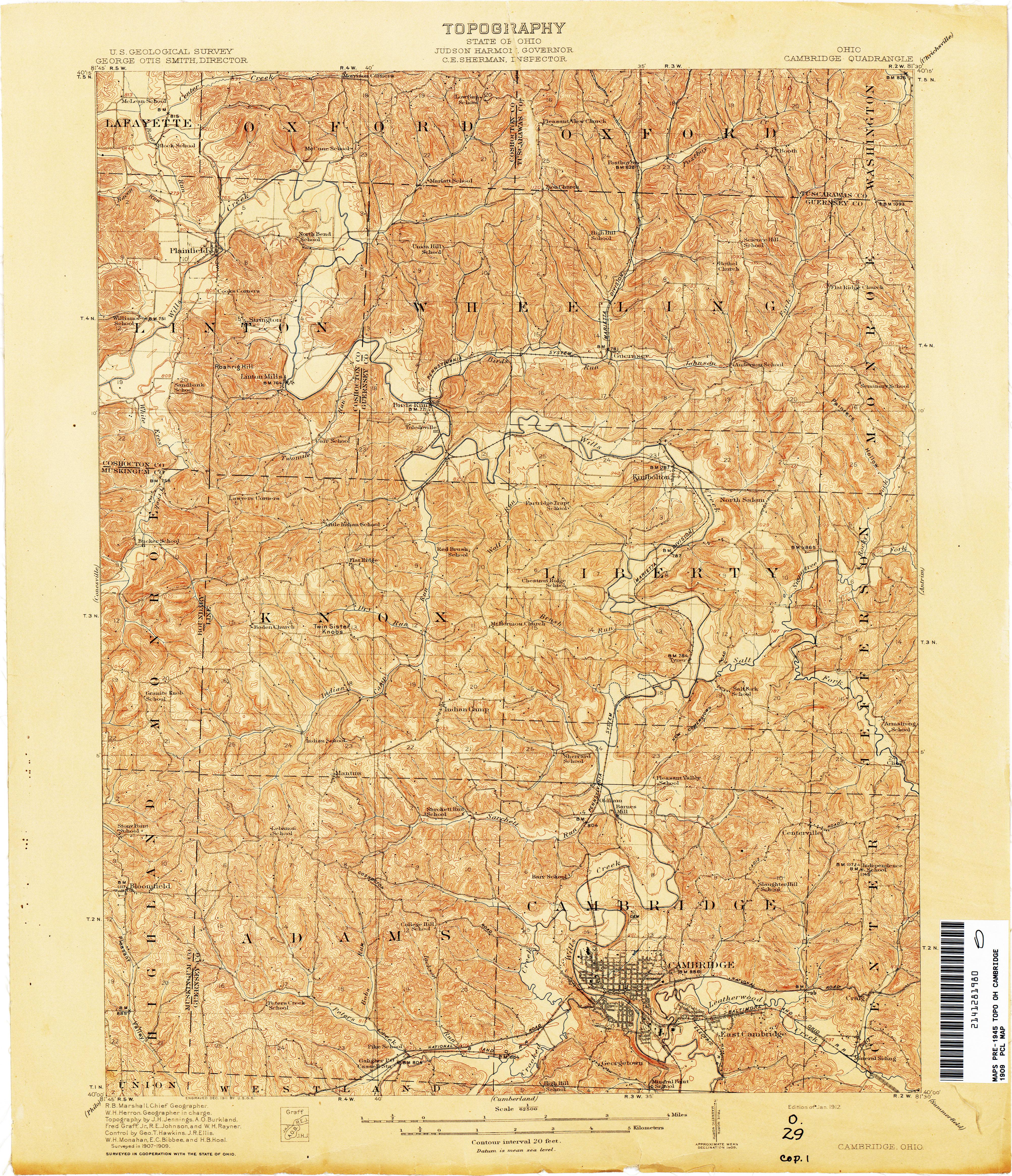 Ohio Historical Topographic Maps PerryCastañeda Map Collection - Us topo maps
